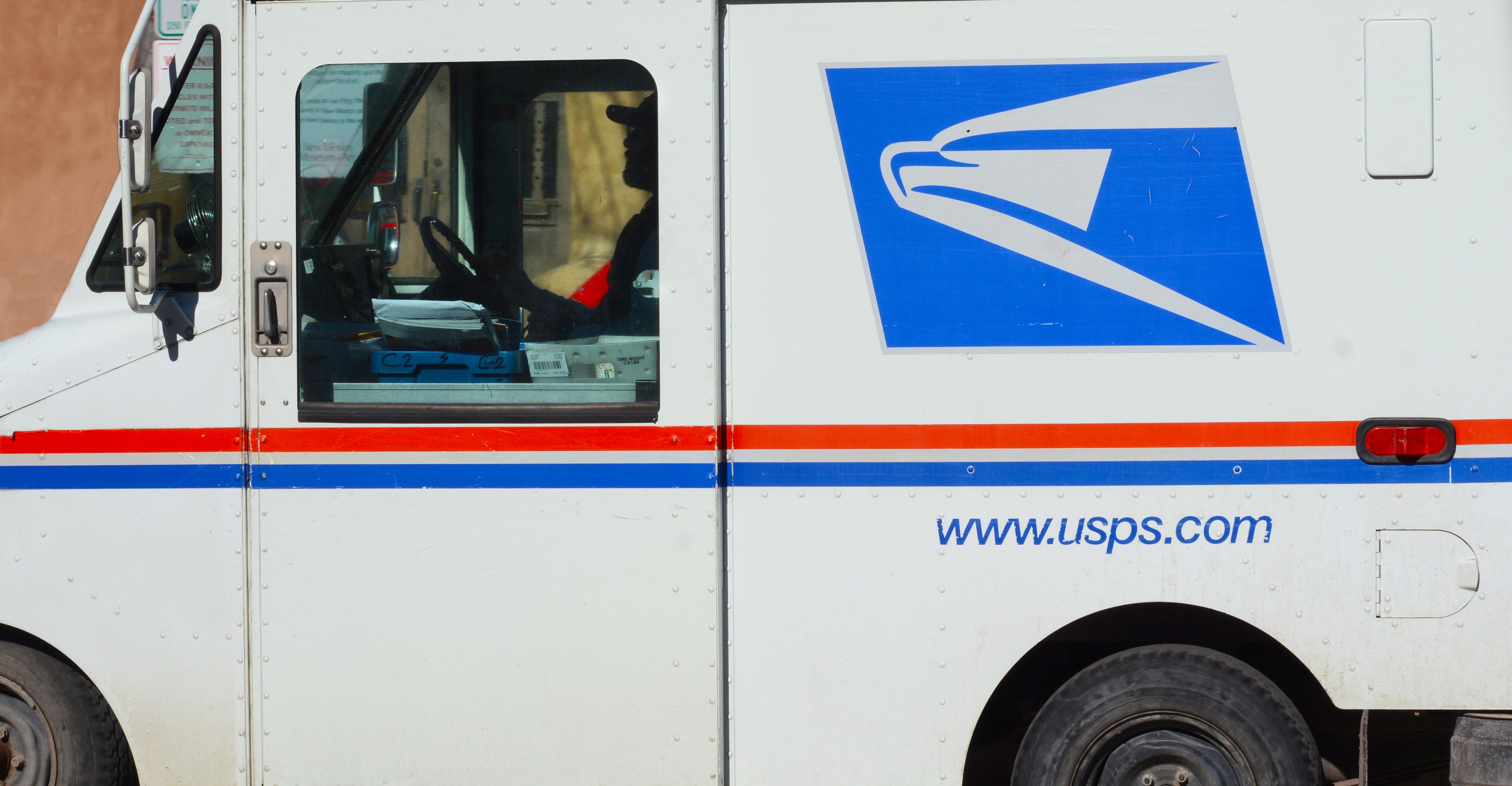 US postman at work