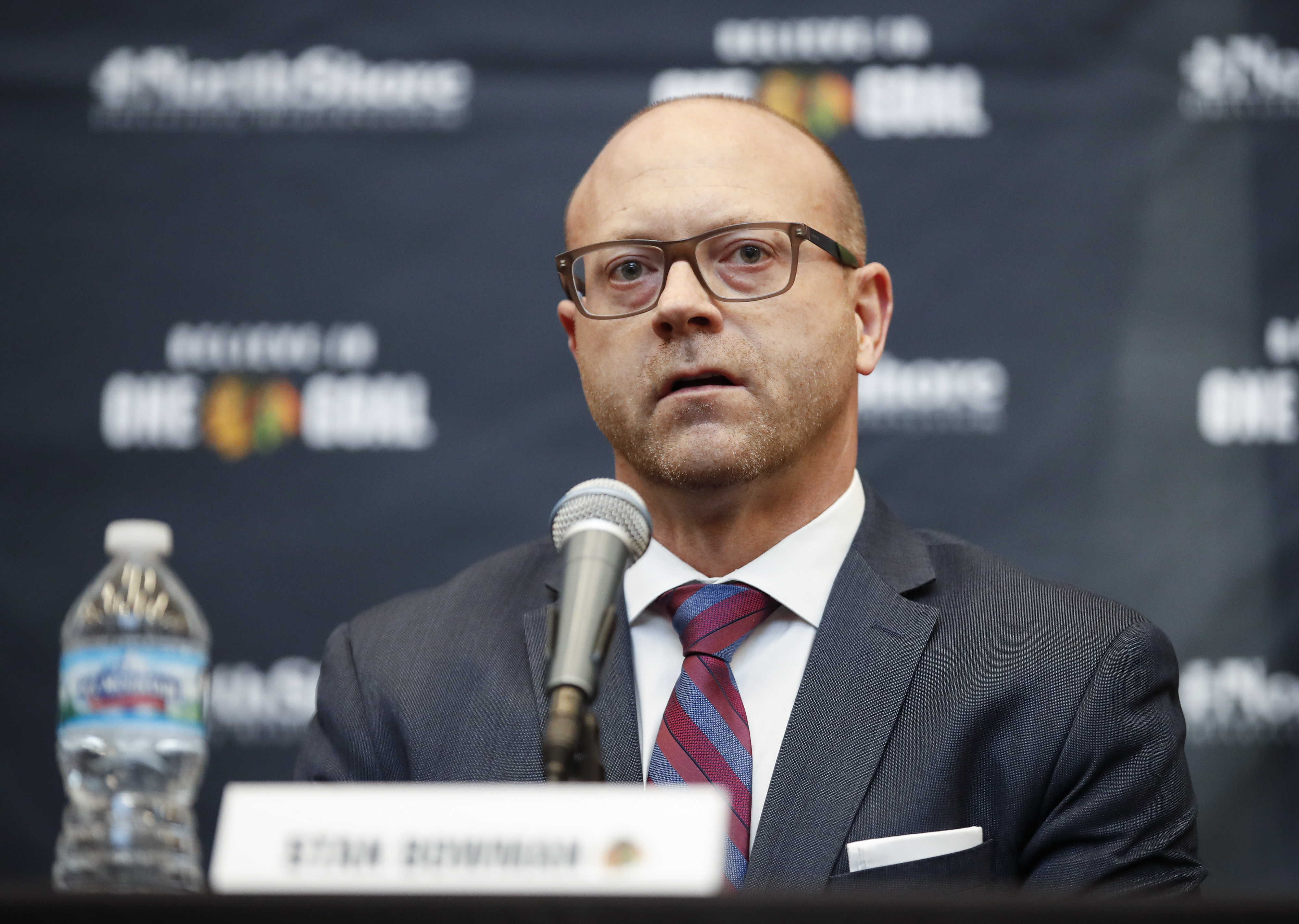 Blackhawks general manager Stan Bowman probably liked what he saw around the NHL trade market Sunday.