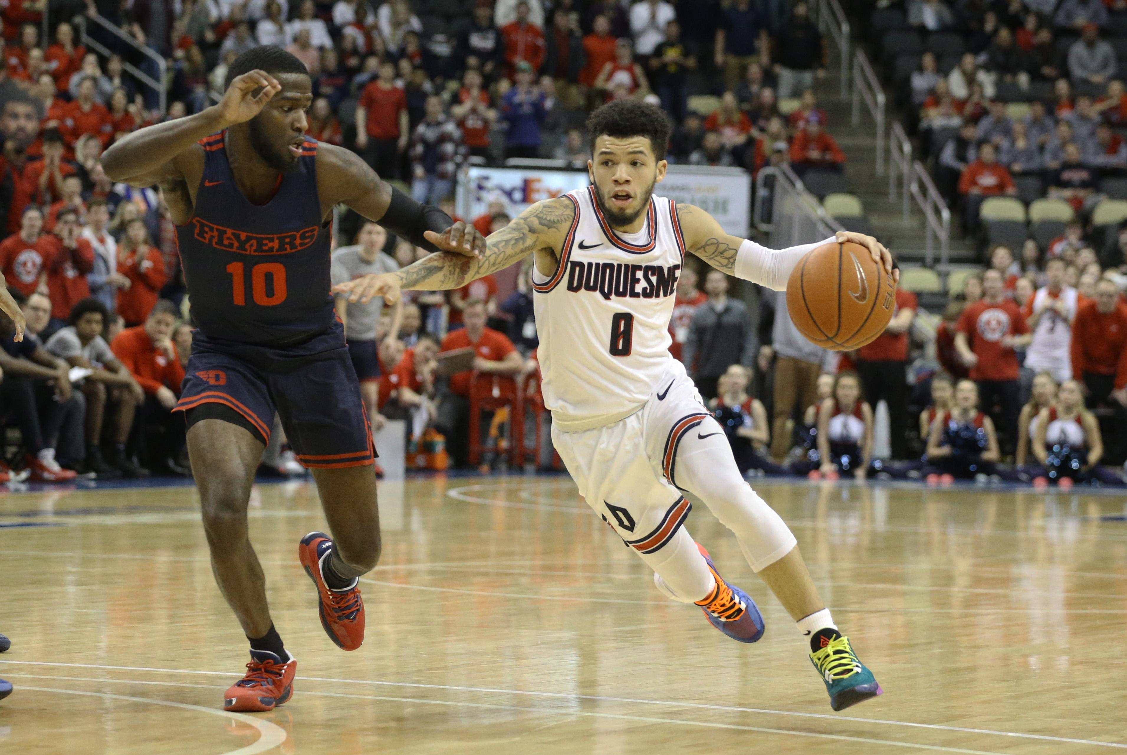 NCAA Basketball: Dayton at Duquesne