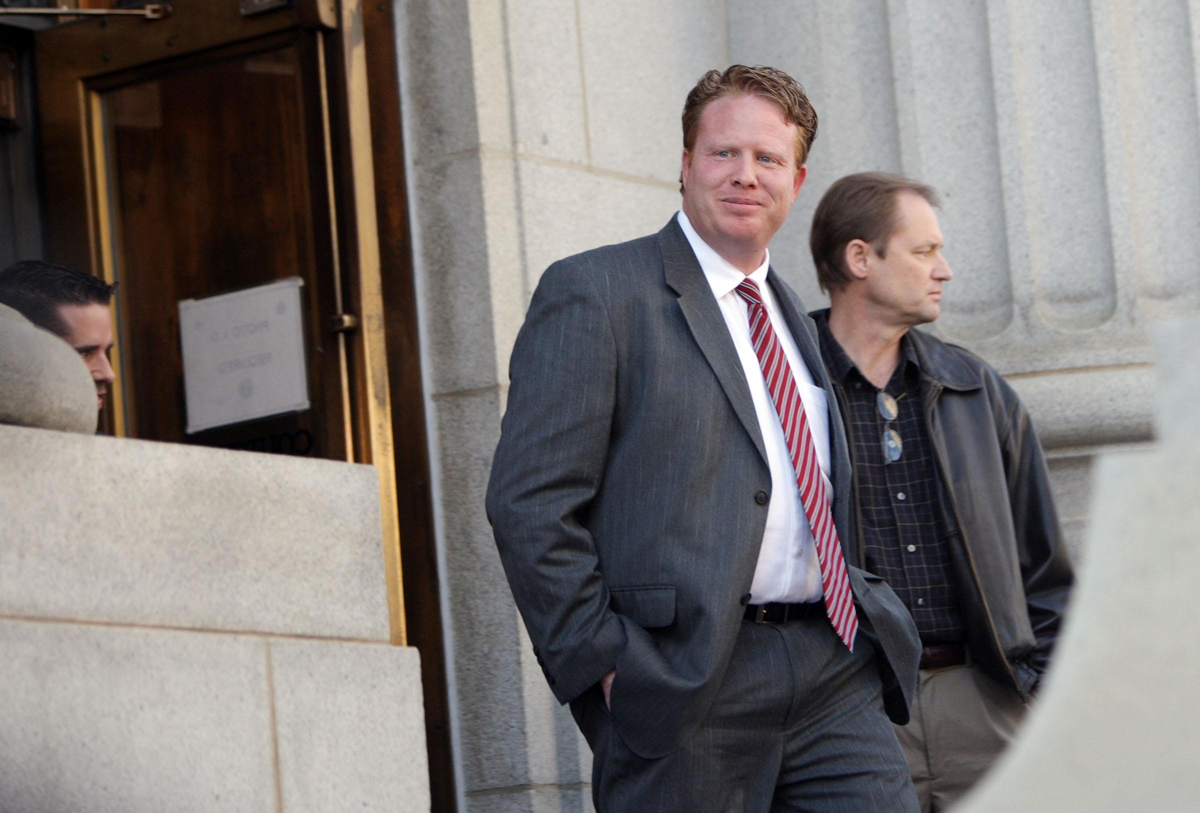 Jeremy Johnson leaves federal court in Salt Lake City on  Feb. 1, 2013.