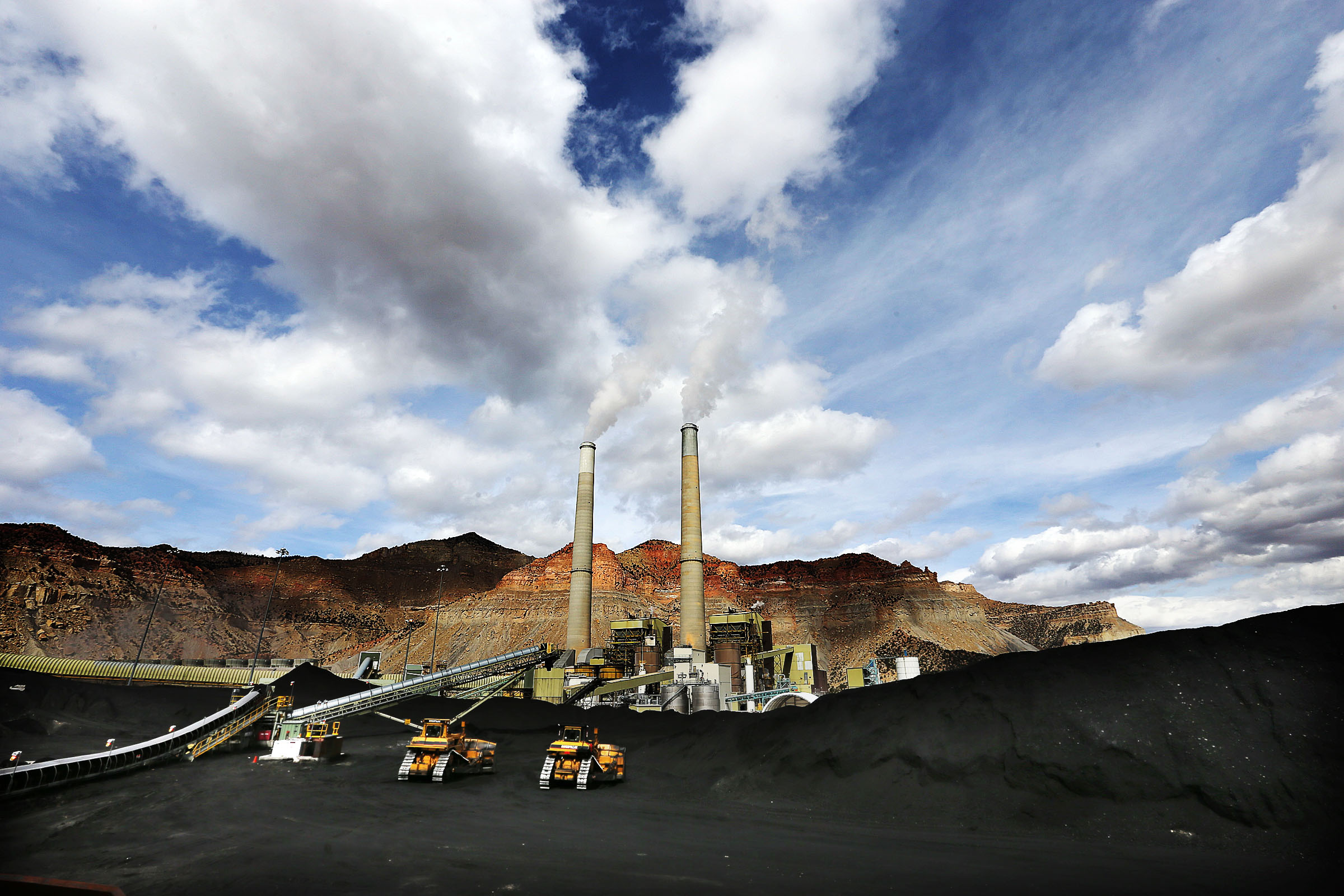Coal from various sources is mixed for use at the Huntington power plant in Huntington, Tuesday, March 24, 2015.