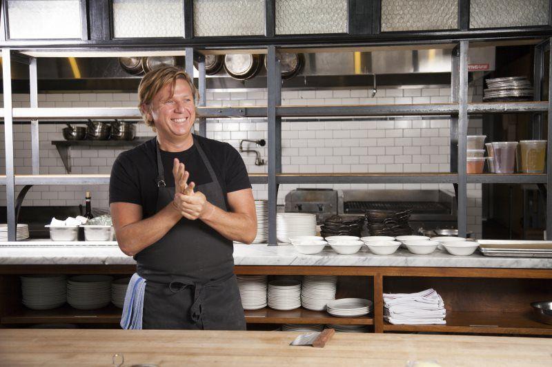 Jason Stoneburner in the kitchen of Ballard's Stoneburner.