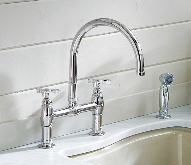 Faucet in a kitchen.