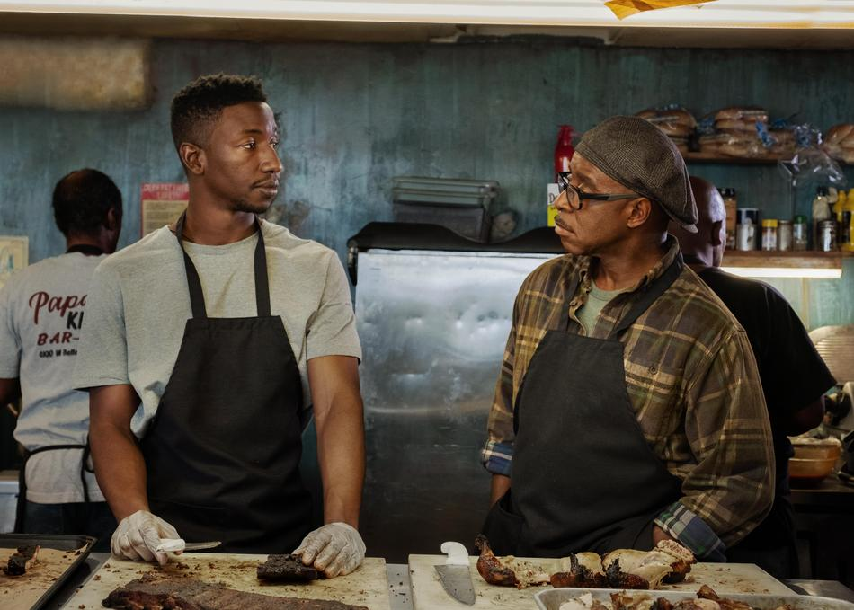 Mamoudou Athie and Courtney B. Vance in Uncorked