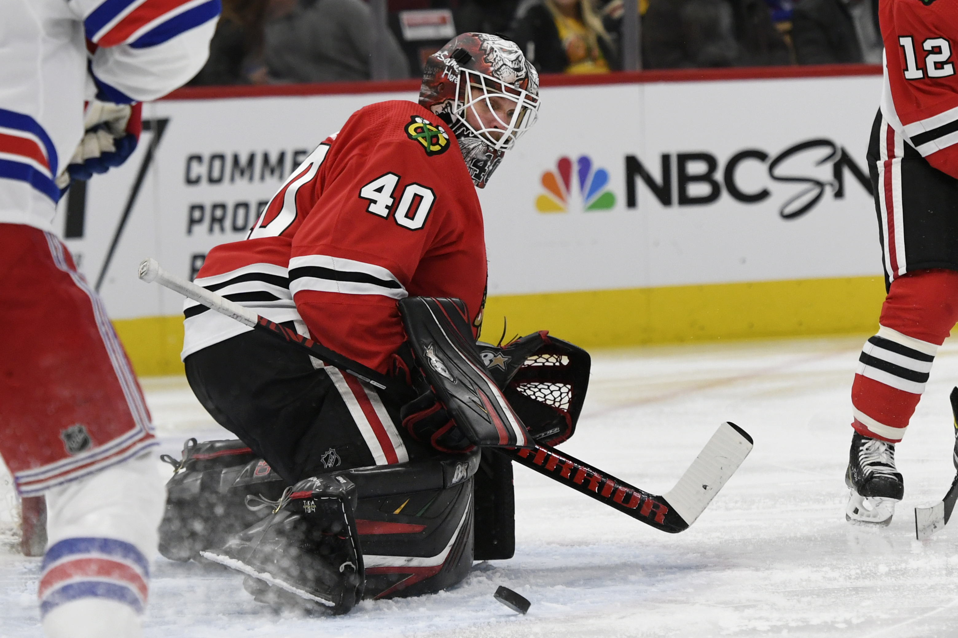 Robin Lehner made 35 saves but allowed six goals Wednesday against the Rangers.
