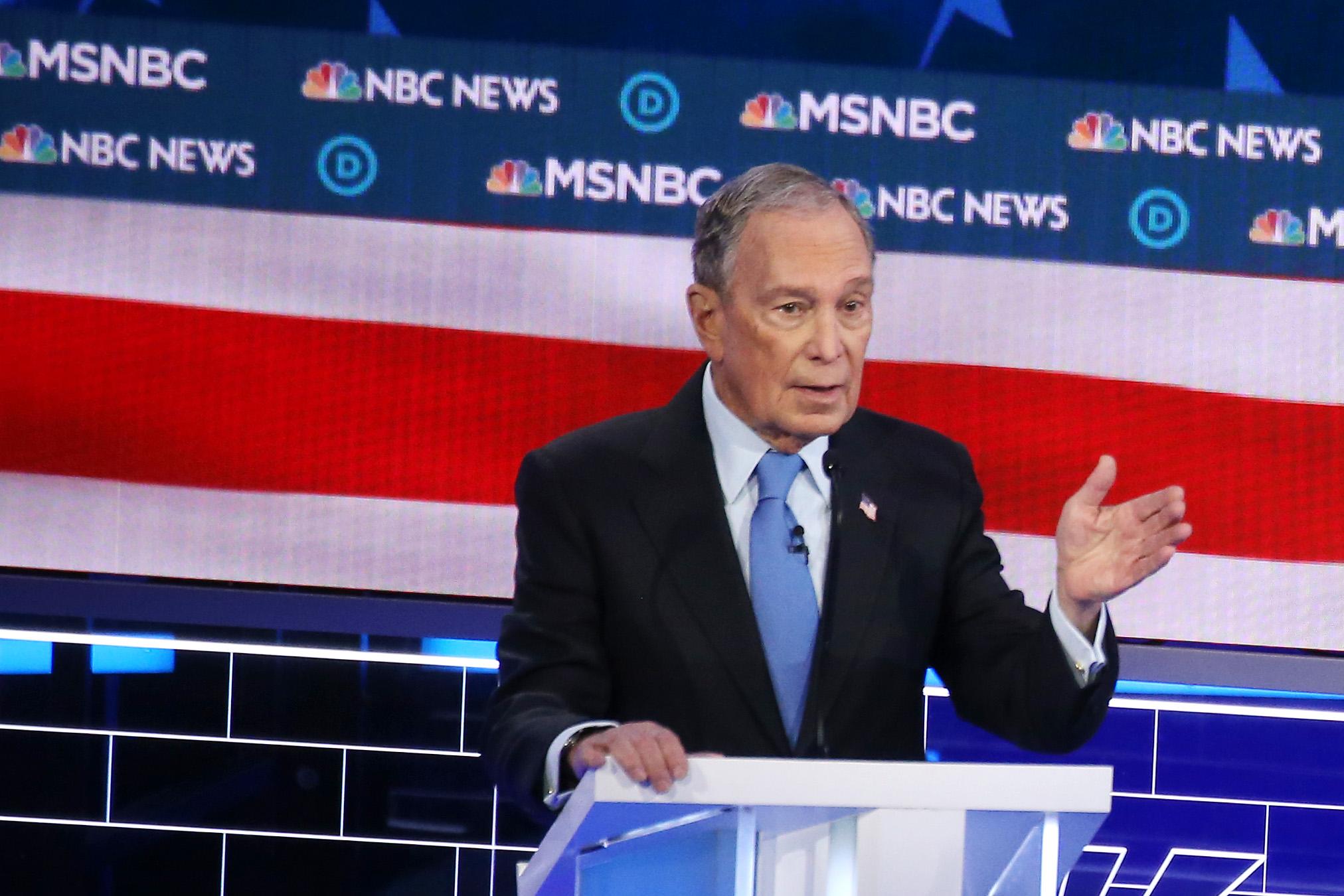 Bloomberg at the Nevada debate.