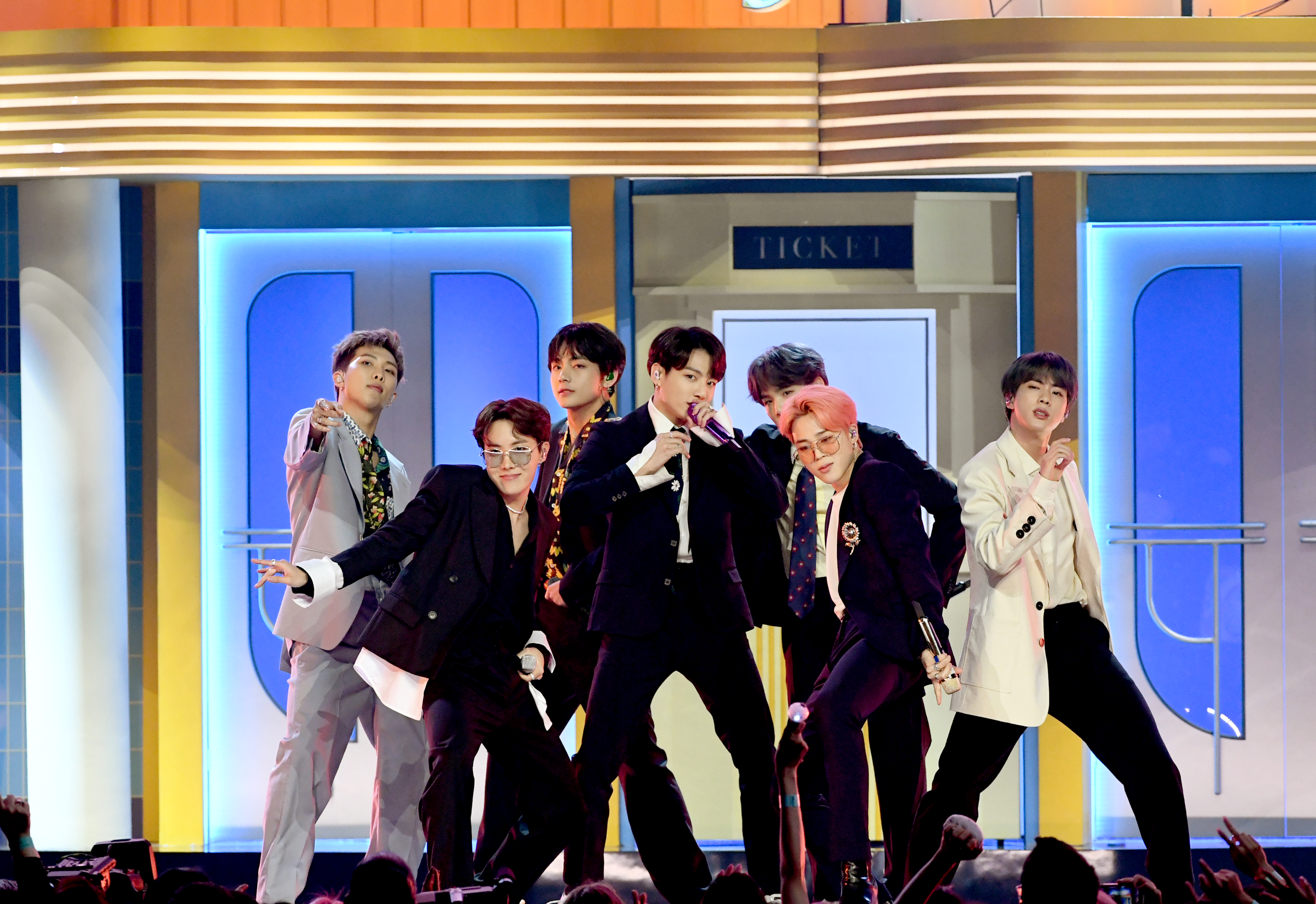 BTS performs at the 2019 Billboard Music Awards.