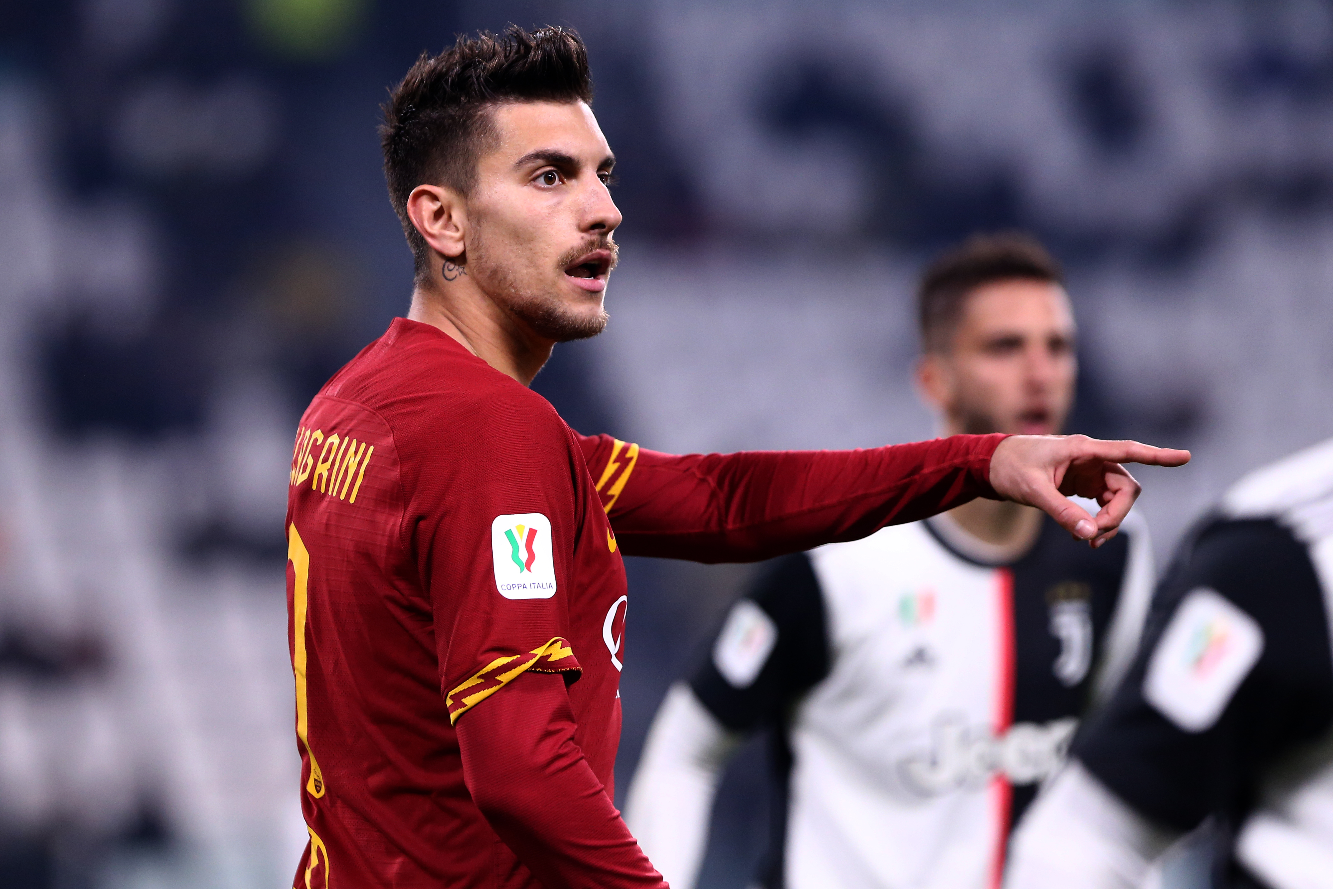 Lorenzo Pellegrini of As Roma during the Coppa Italia...