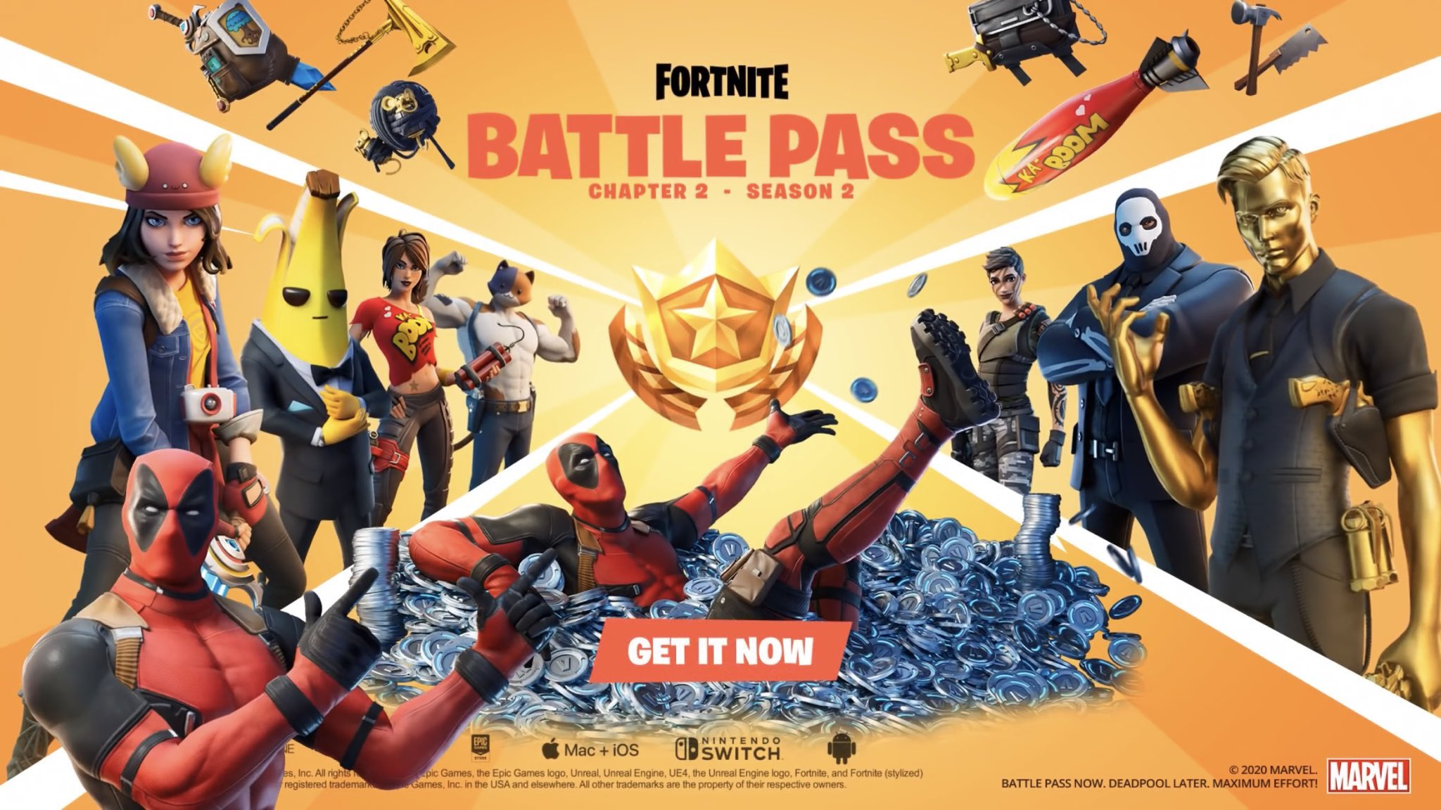 """Fortnite launched its second season of its second chapter Thursday, revealing a new theme centered around spies, agents and a """"takeover"""" of the island."""