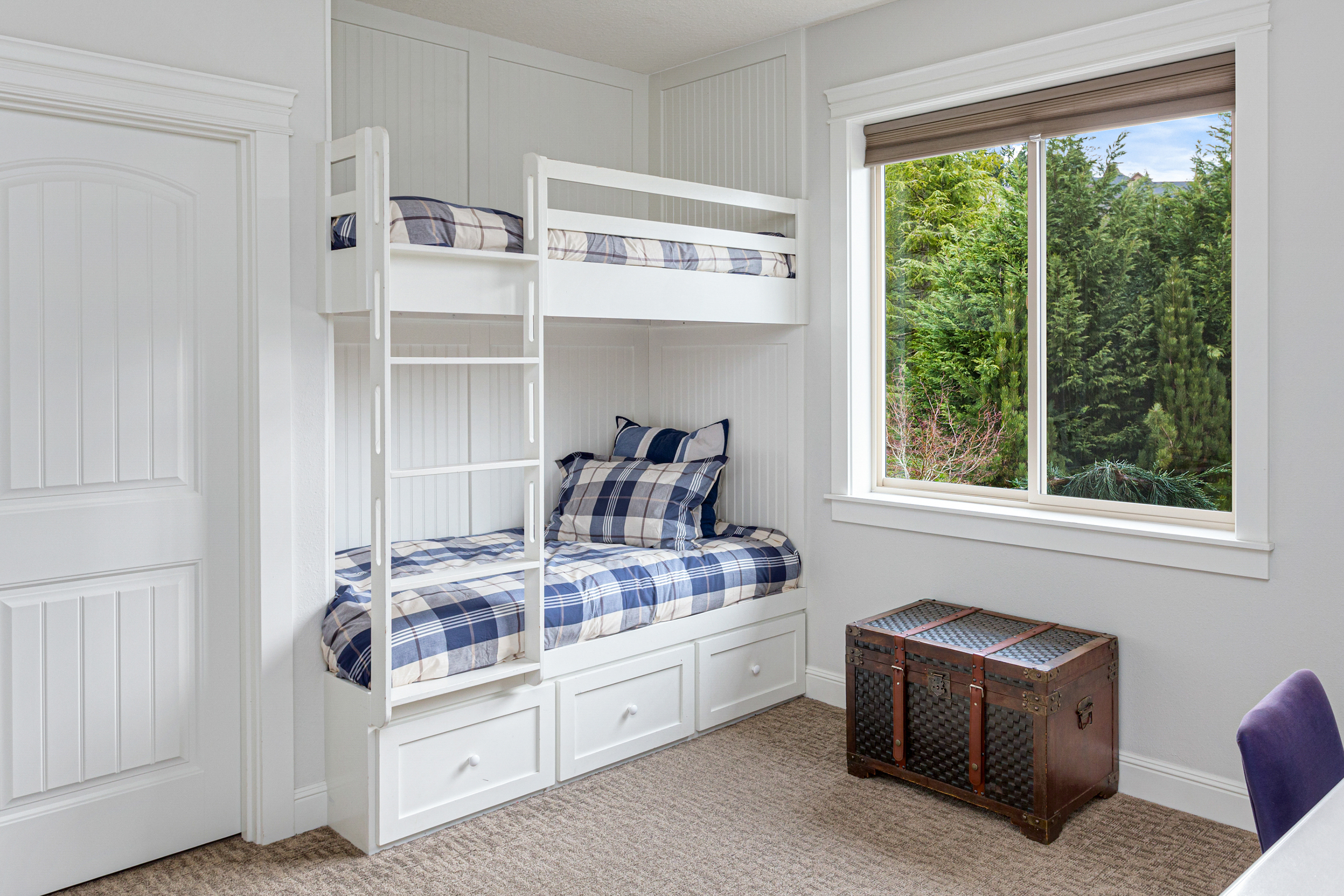 Custom bunk bed with storage.