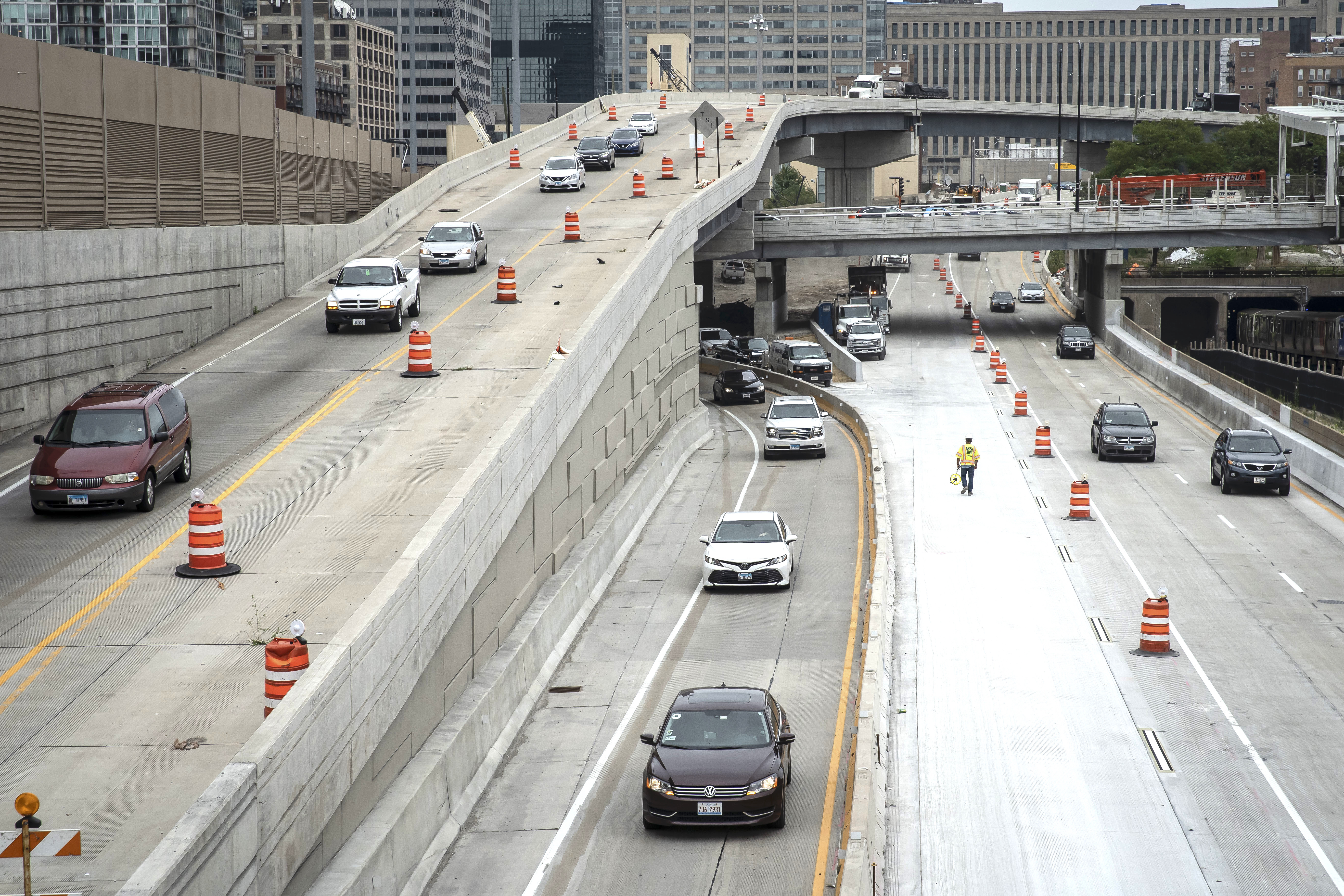 Lane closures at the Jane Byrne Interchange are set for Saturday, Feb. 22, 2020.