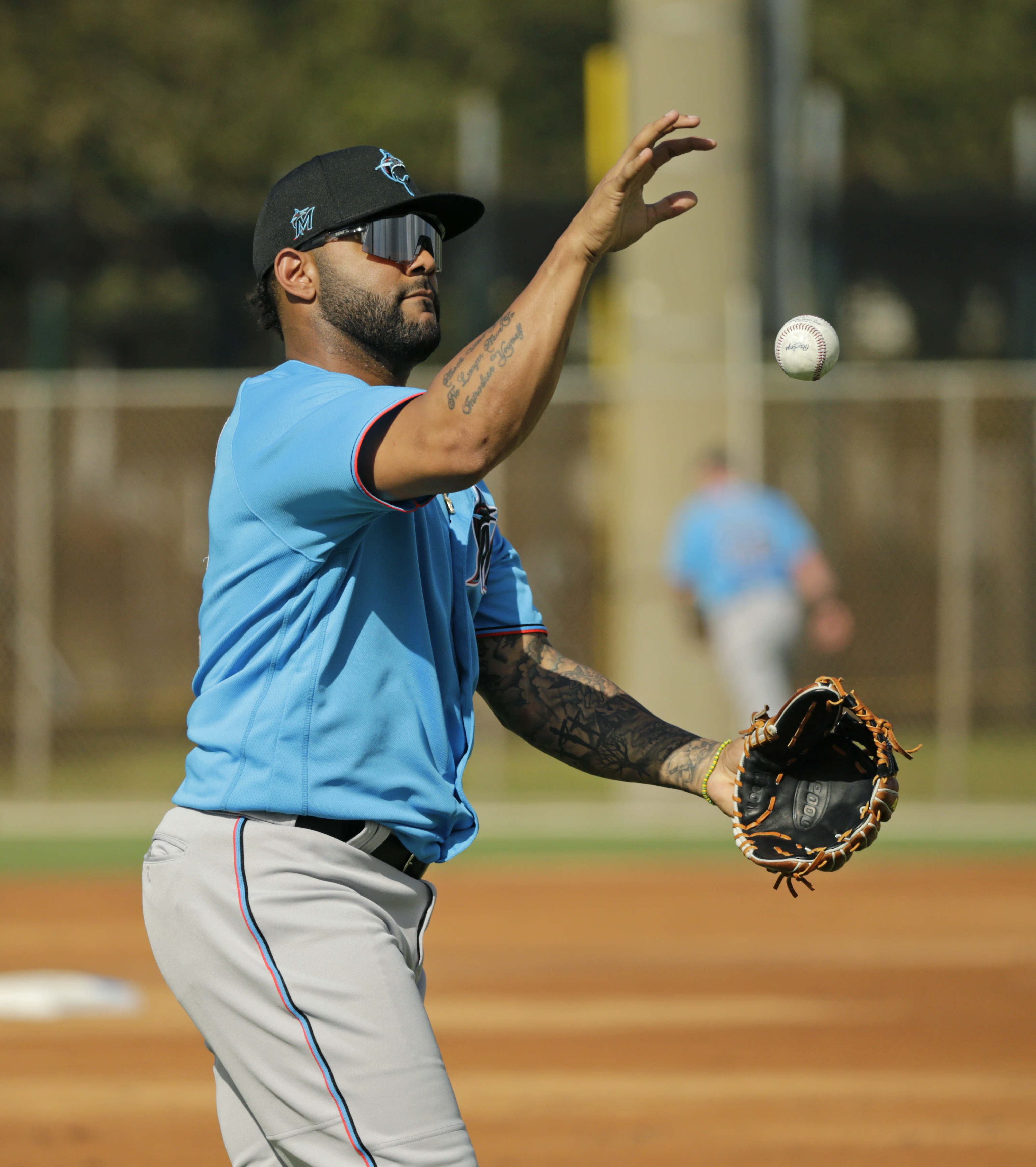 Miami Marlins spring training workout 2/20/2020