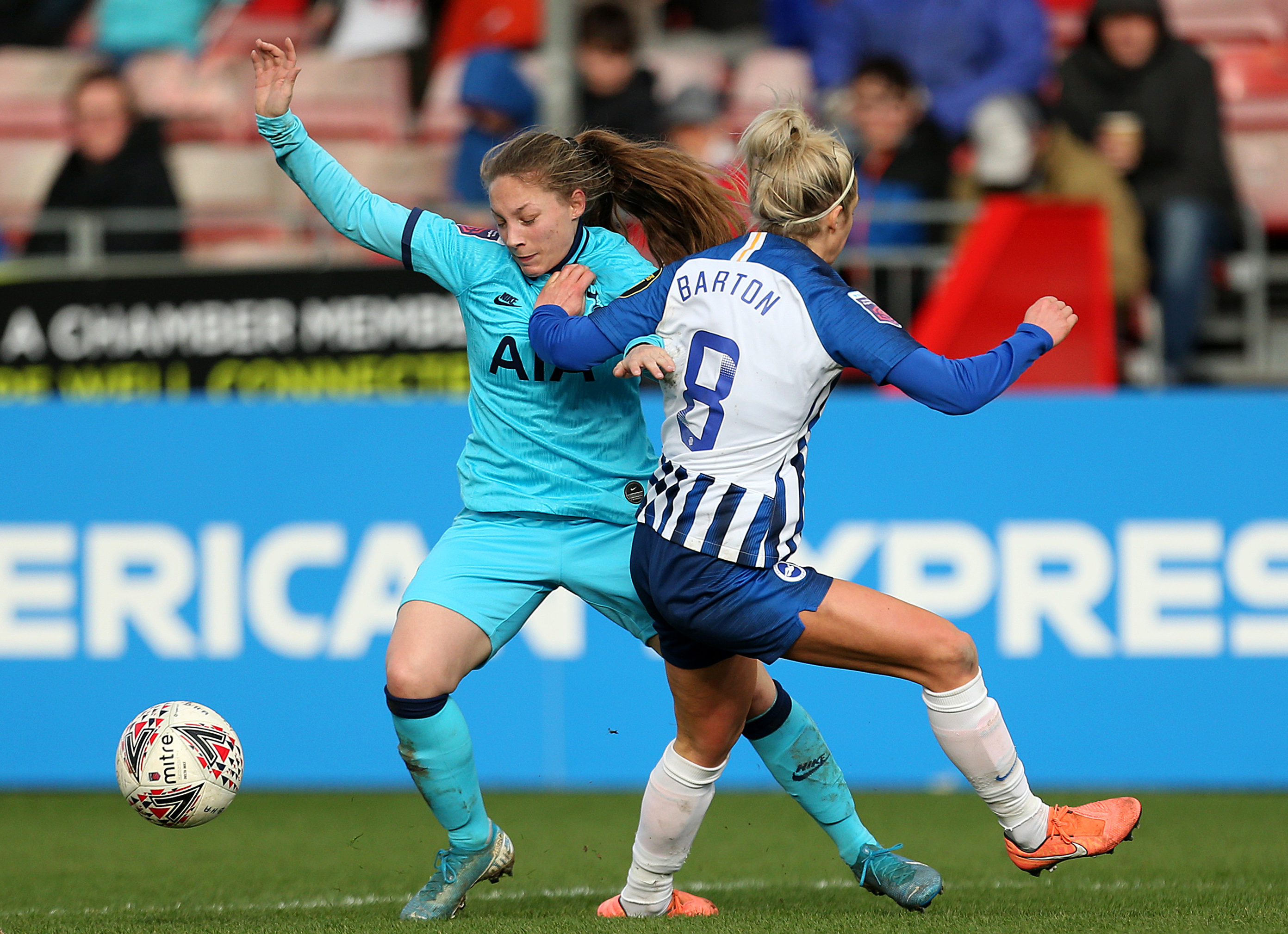 Brighton and Hove Albion v Tottenham Hotspur - FA Womenâs Super League - The People's Pension Stadium