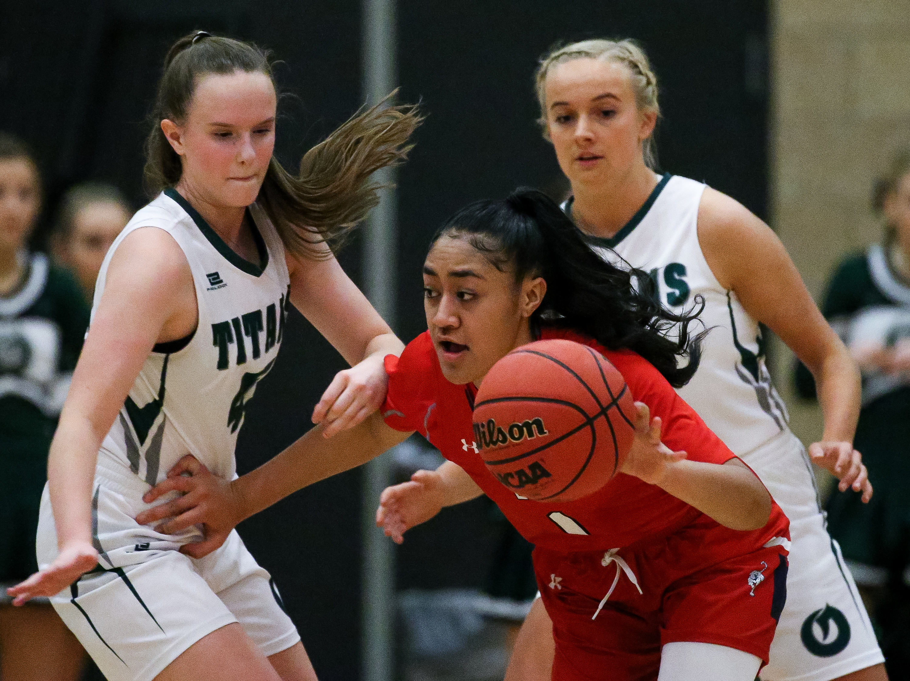 Olympus and East compete in a high school girls basketball game in Holladay on Friday, Feb. 7, 2020.