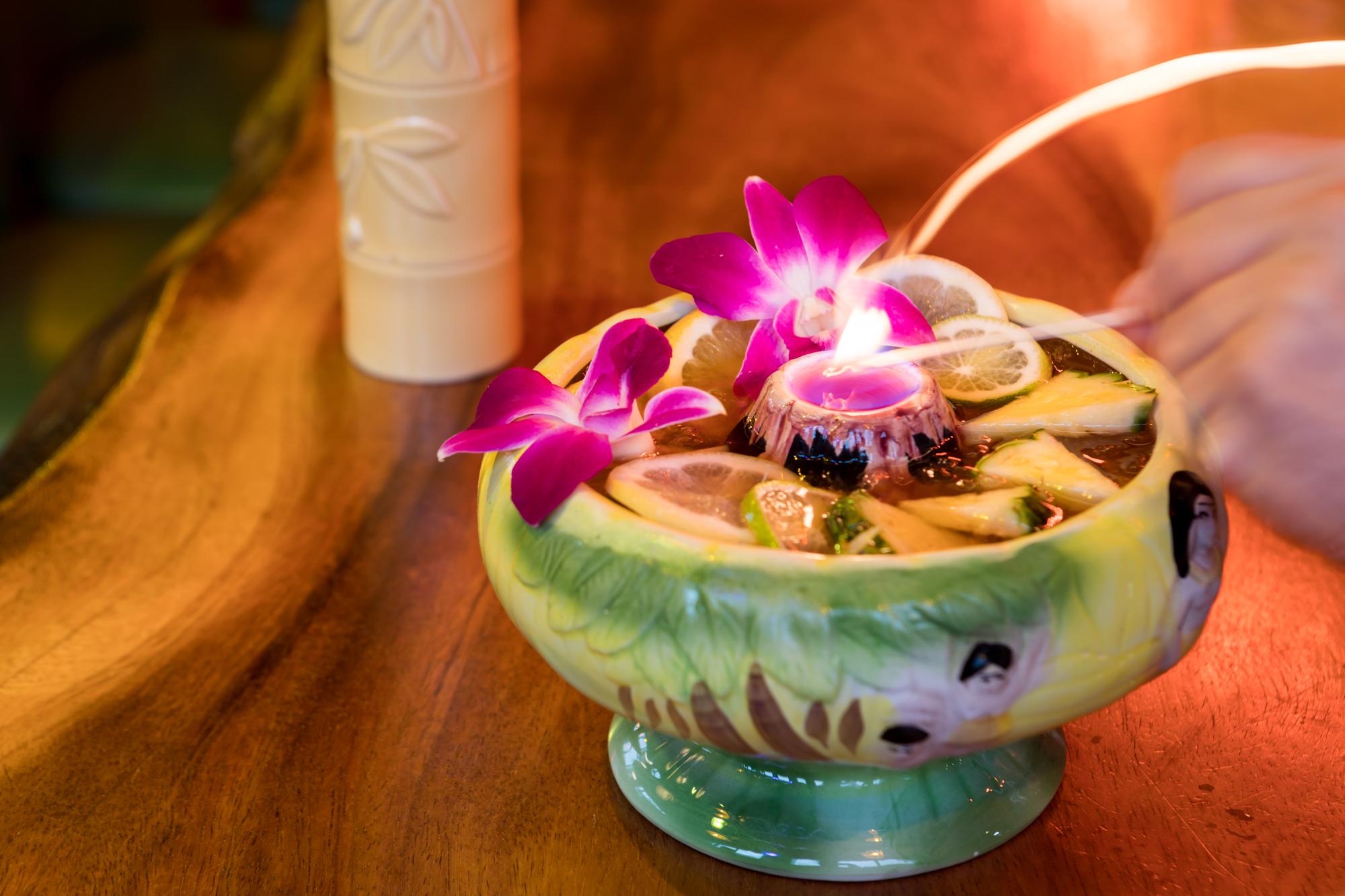 The volcano bowl at Kon-Tiki