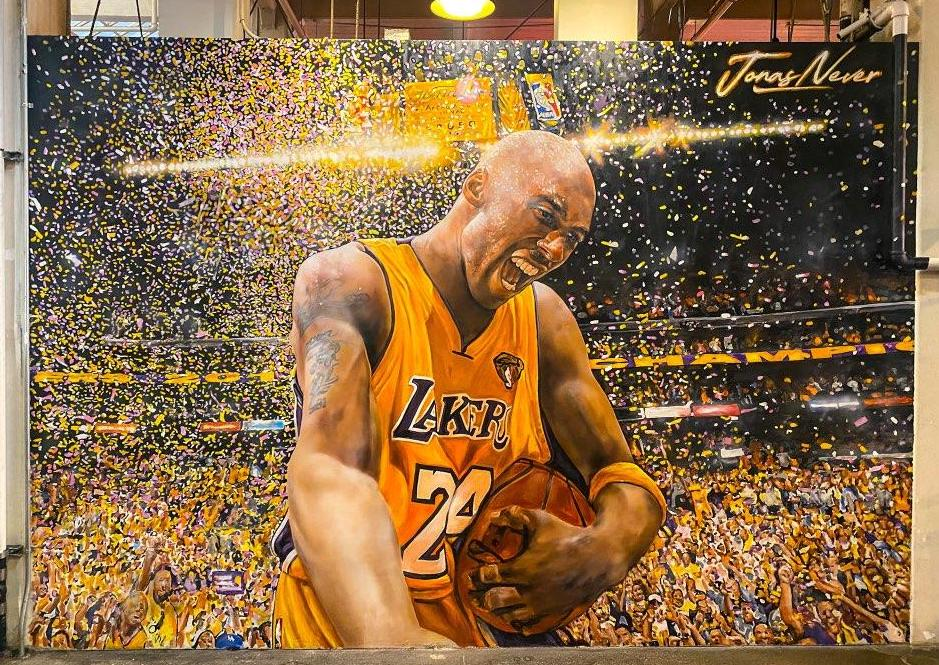 Kobe Bryant mural at Grand Central Market in Downtown Los Angeles