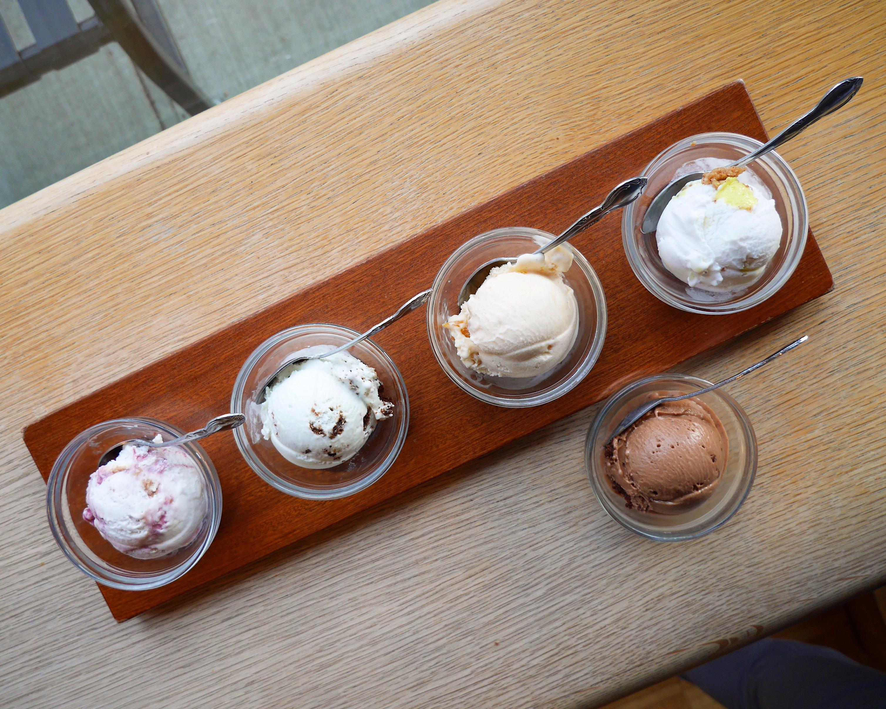 Salt & Straw ice cream flight