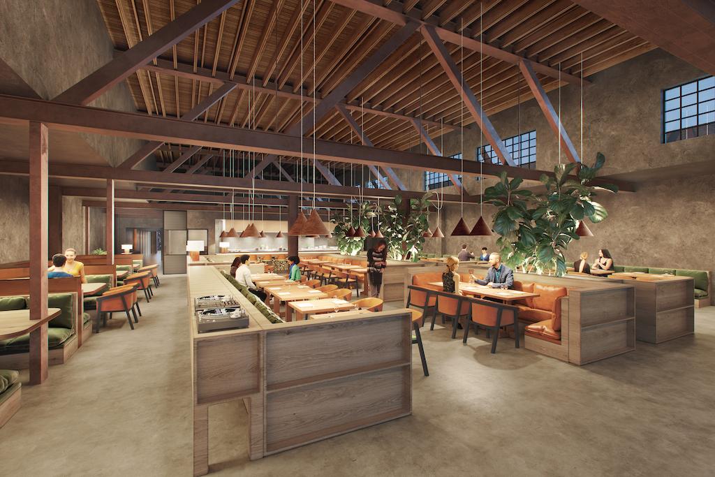 Grandmaster Recorders restaurant renderings in Hollywood, California