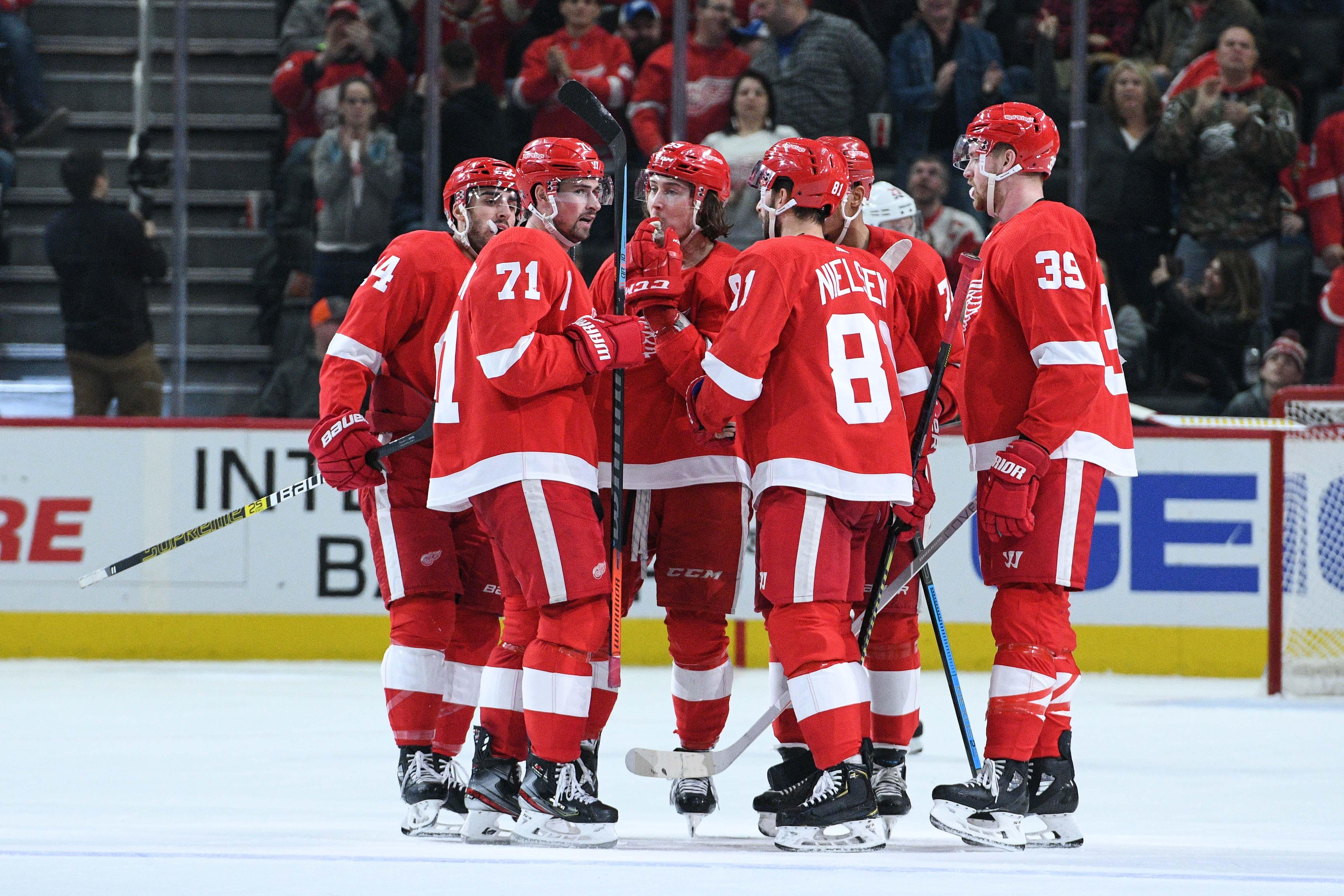 NHL: Calgary Flames at Detroit Red Wings