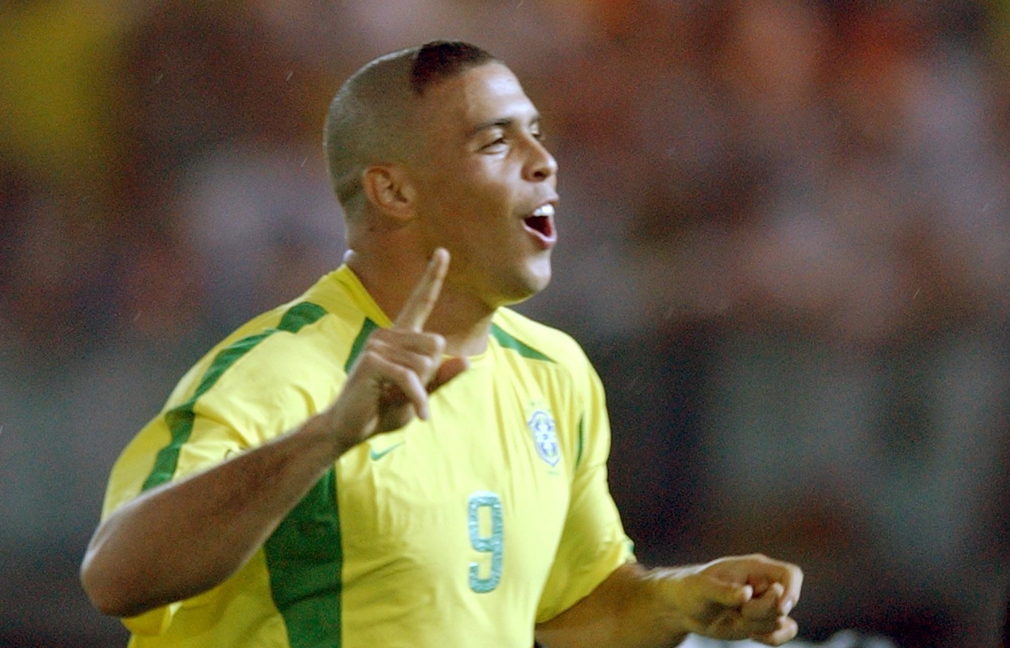 Soccer World Cup Final 2002: Brazil vs Germany - Ronaldo cheers