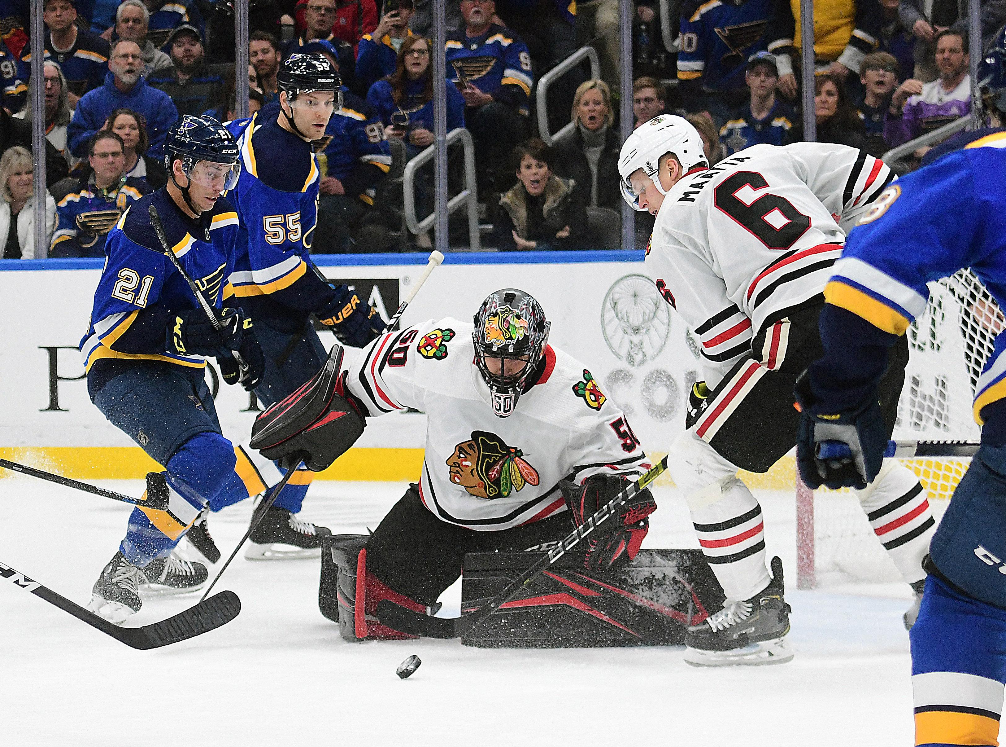NHL: FEB 25 Blackhawks at Blues