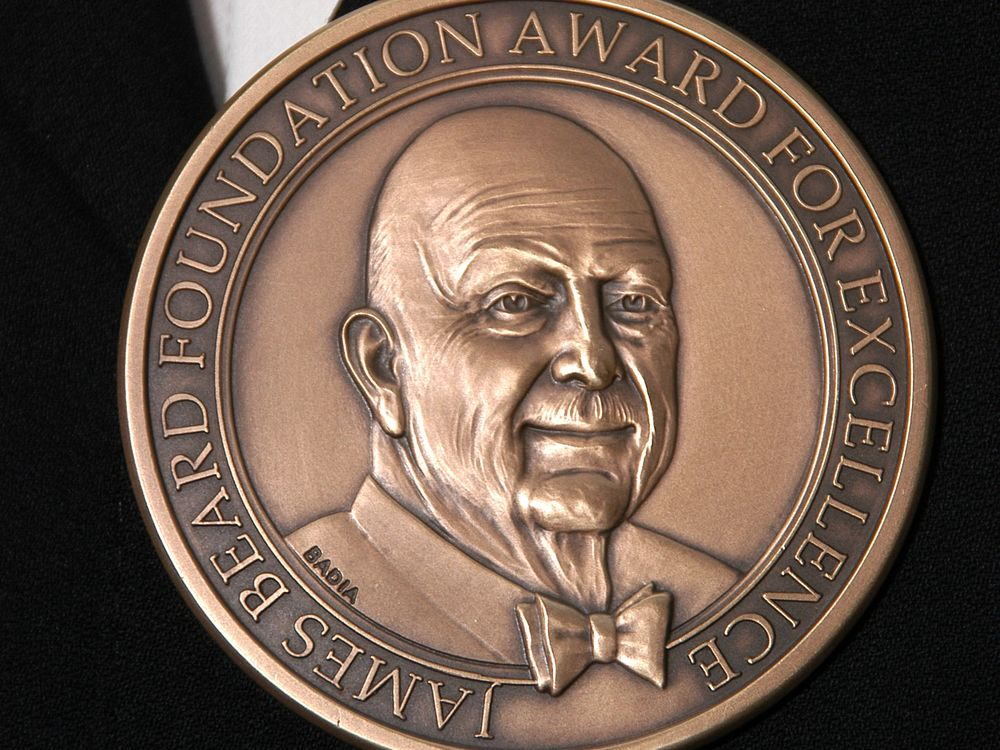 A James Beard Award medal