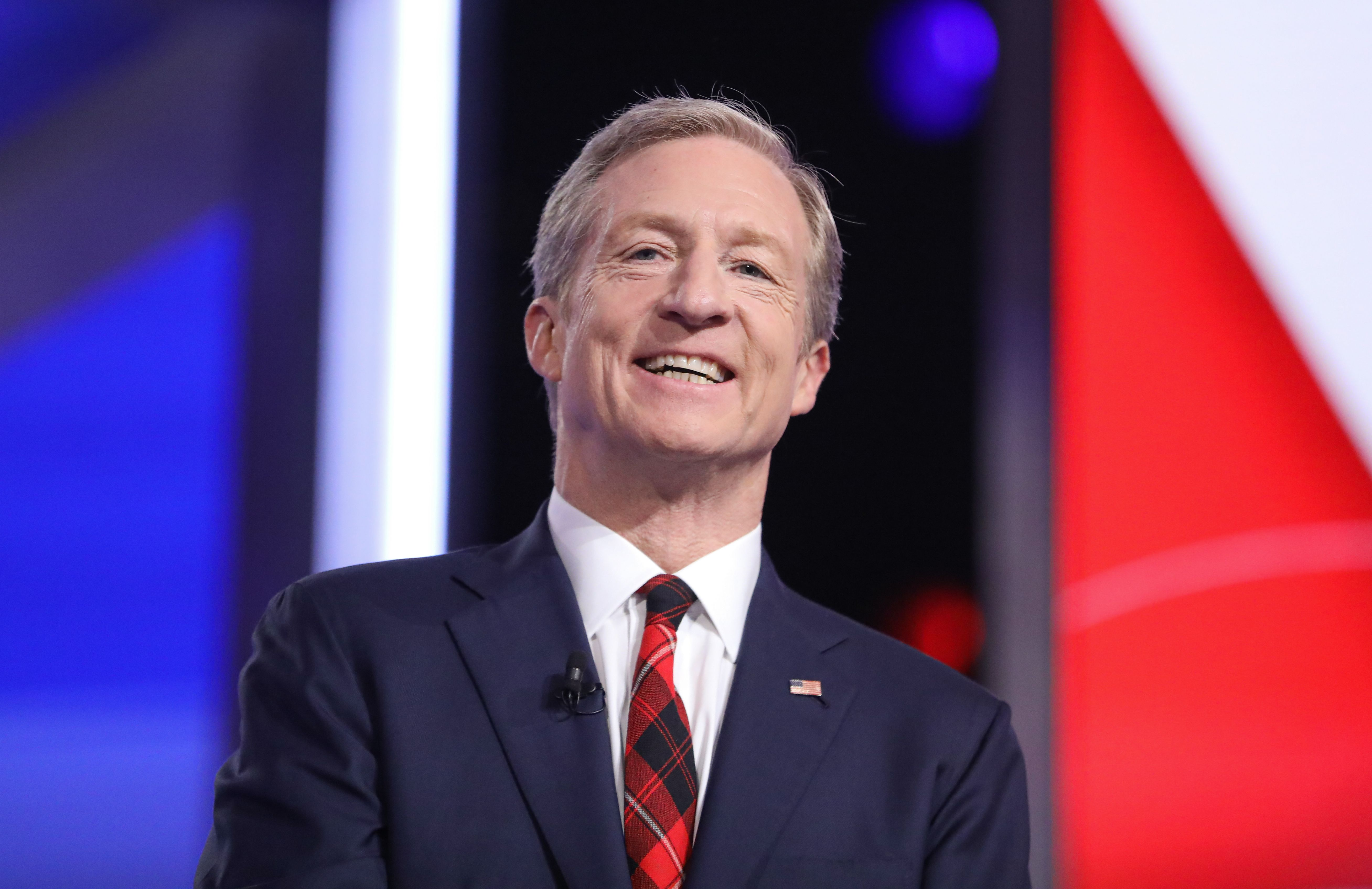 Democratic candidate Tom Steyer at the tenth democratic debate in South Carolina.