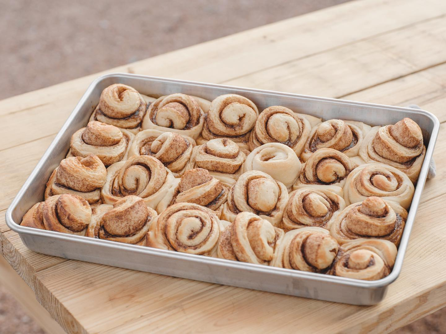 Cinnamon rolls from Teal House