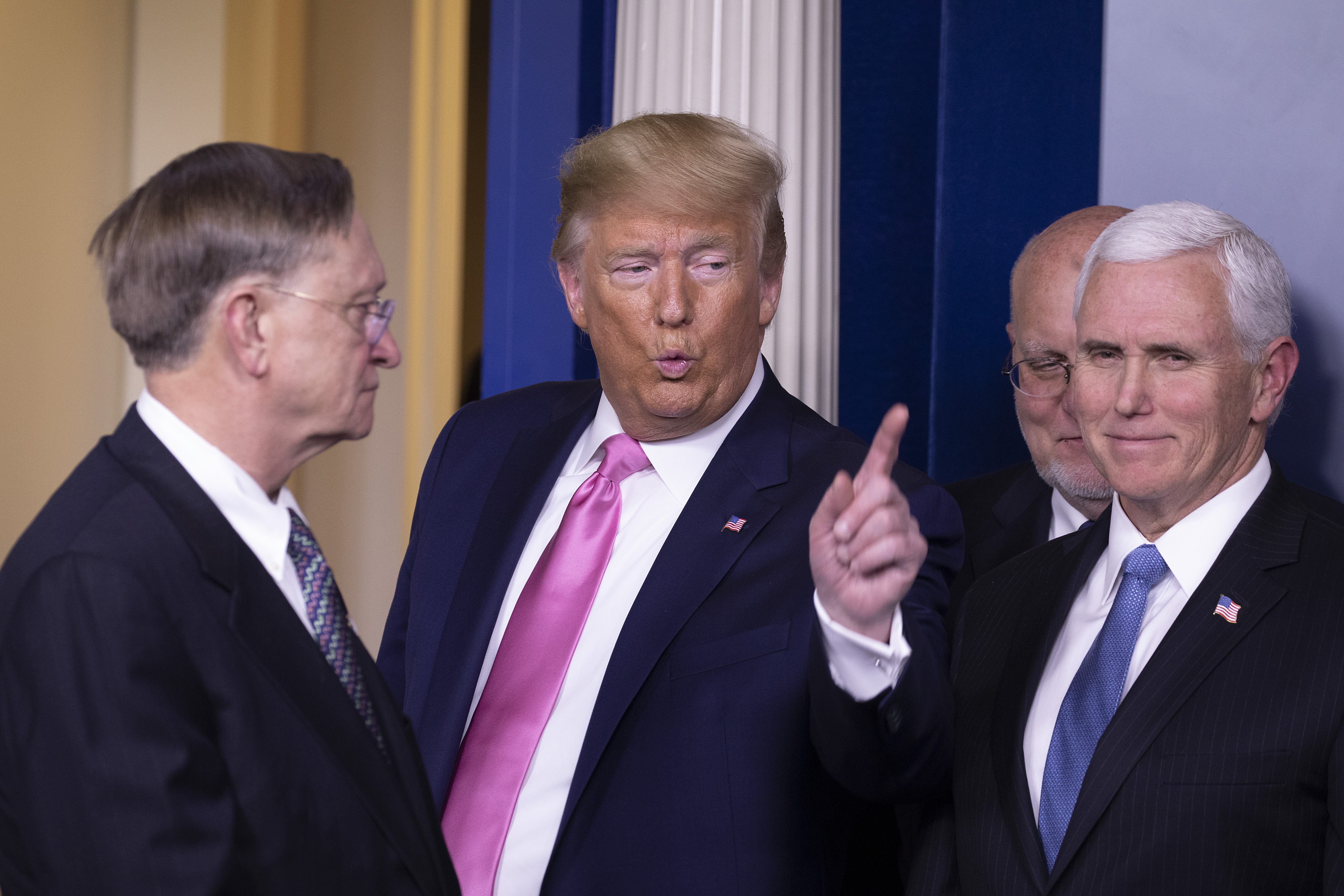 President Trump Holds Press Conference With CDC Officials On Coronavirus
