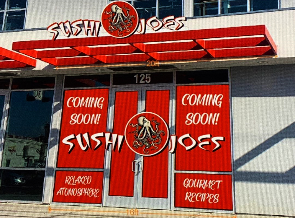 A rendering of the Sushi Joe's Japanese restaurant expanding to the University District from the Rio All-Suite Hotel & Casino.