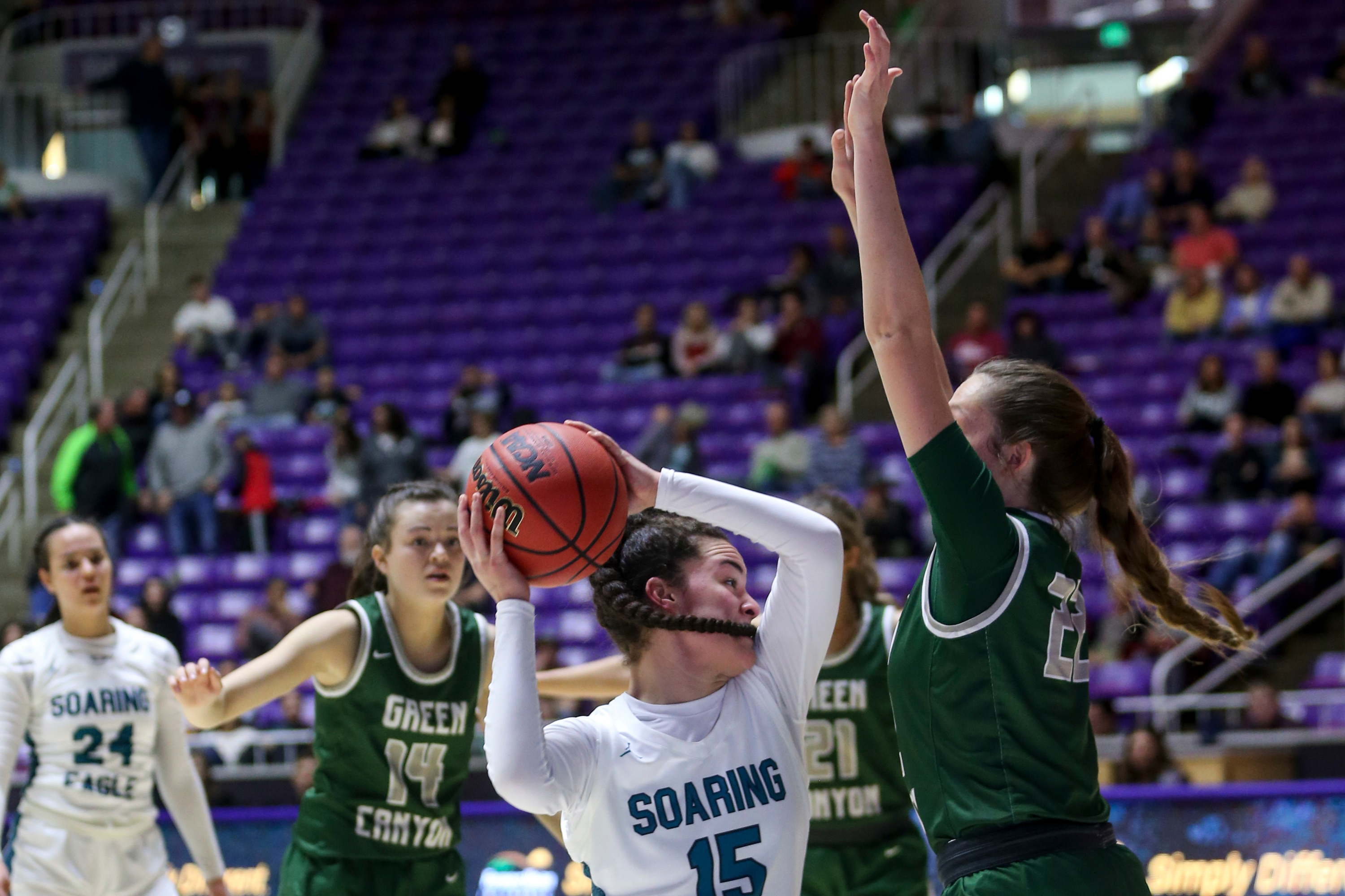 Green Canyon beats Juan Diego during the 4A girls quarterfinal basketball game at Dee Events Center in Ogden on Thursday, Feb. 27, 2020.