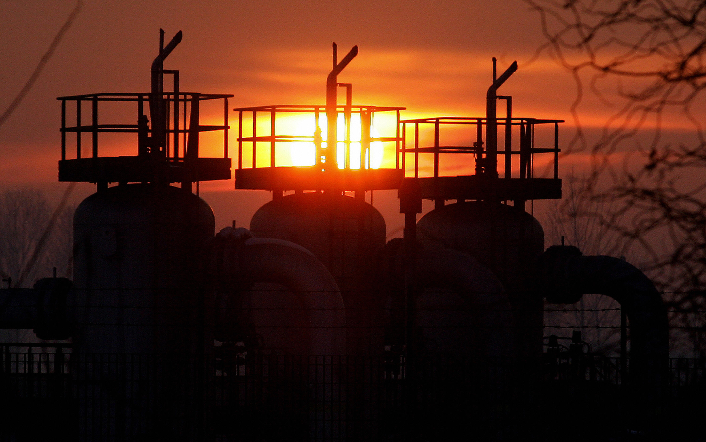 View of a gas equipment of Italy's main