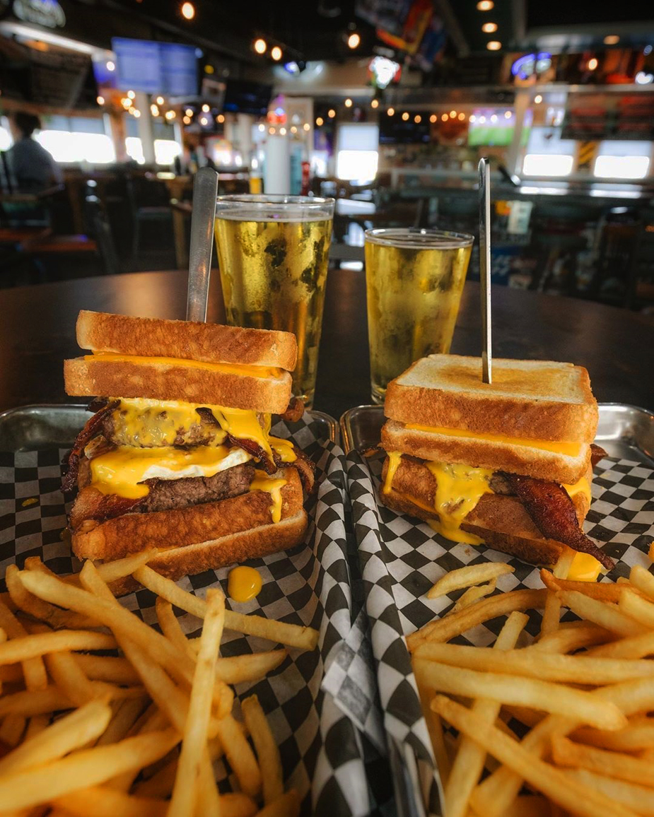 """""""Turbo Twin Cam"""" burger at Sickies Garage Burgers & Brews, coming to Town Square later this year."""