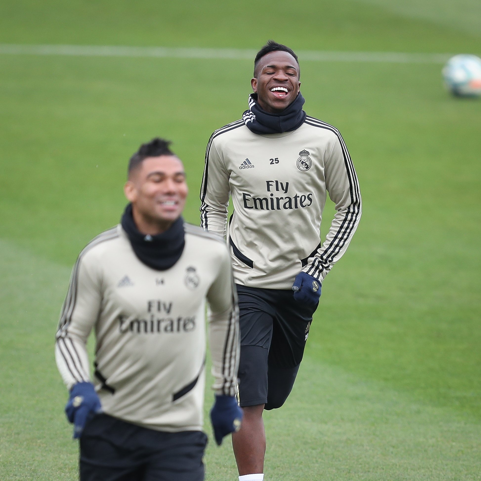 Real Madrid's Training Session On The Eve Of The Spanish 'Clasico'