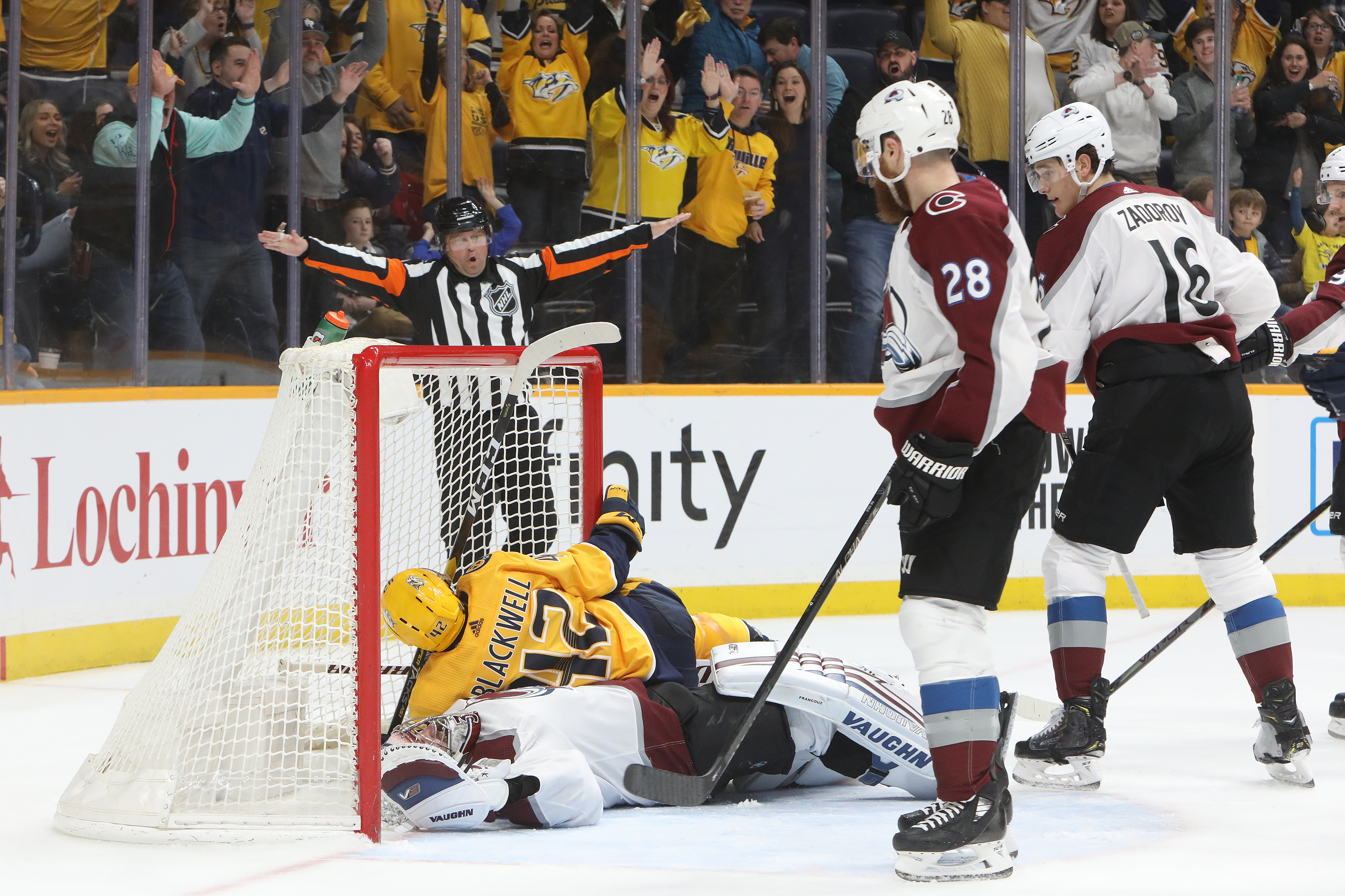 NHL: FEB 29 Avalanche at Predators