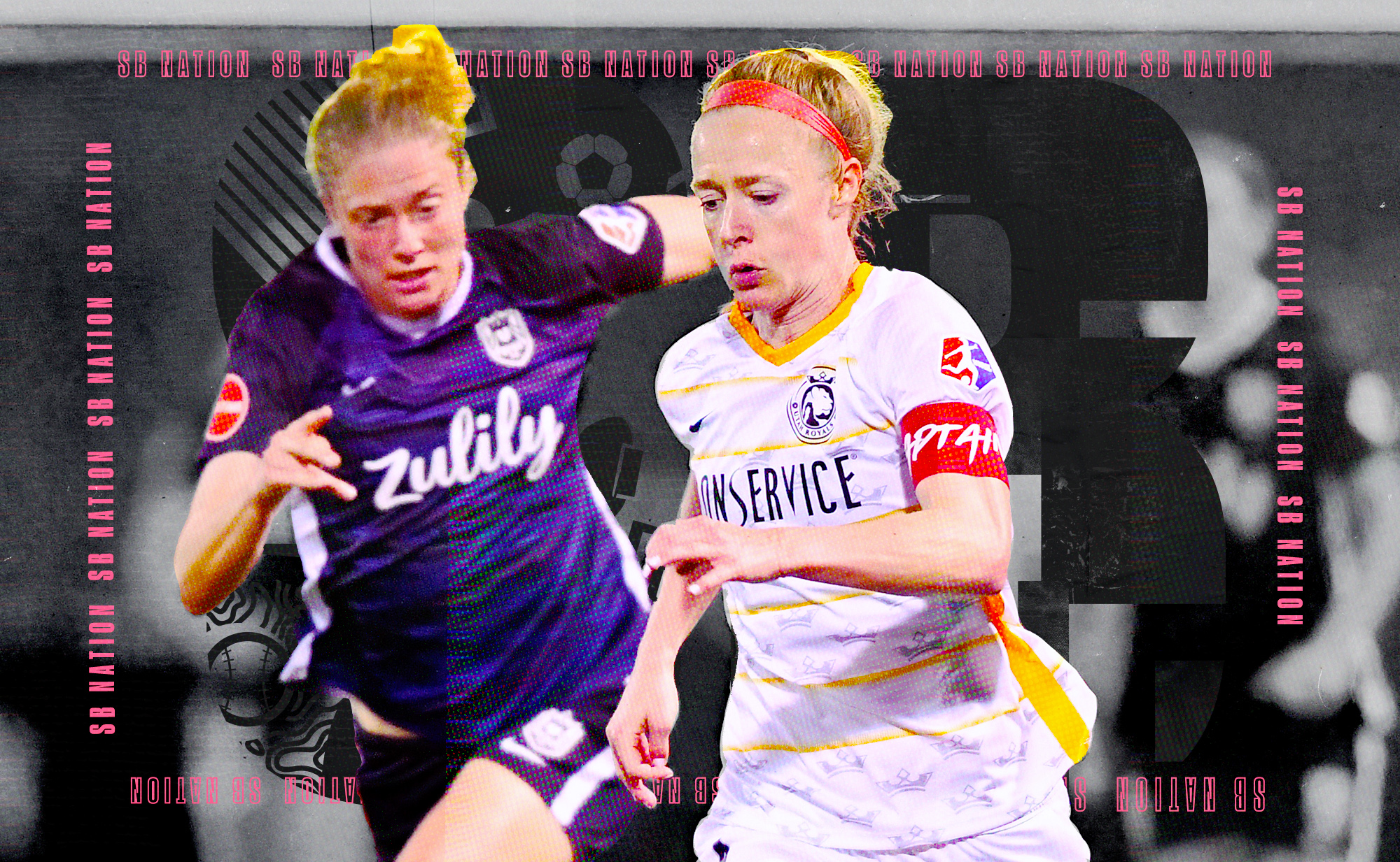 Becky Sauerbrunn dribbling past an opponent while playing for the Utah Royals.