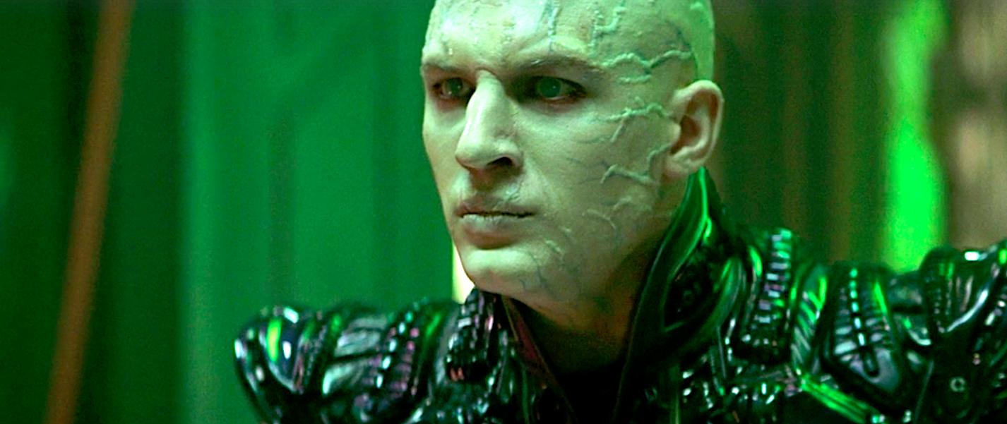 Tom Hardy as the bad guy Picard clone in Star Trek: Nemesis