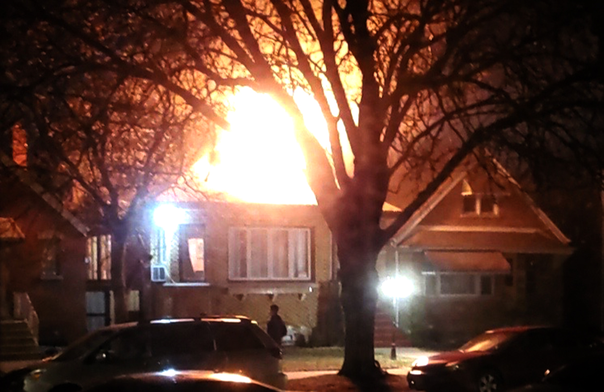 An attic fire led to the death of a 1-year-old girl and hospitalized eight other people.