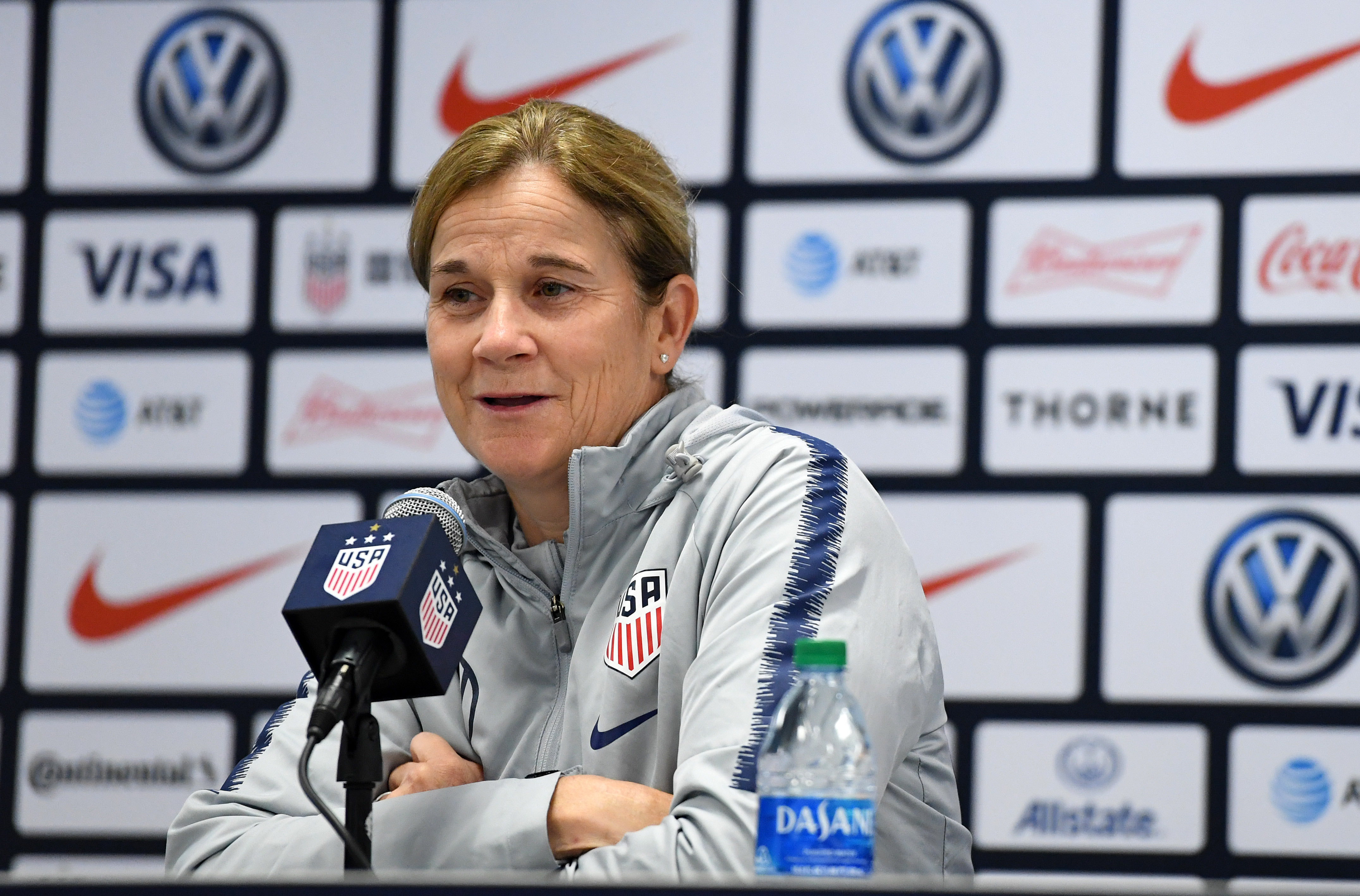 Soccer: US Women's National Soccer Team Coach Jill Ellis Press Conference