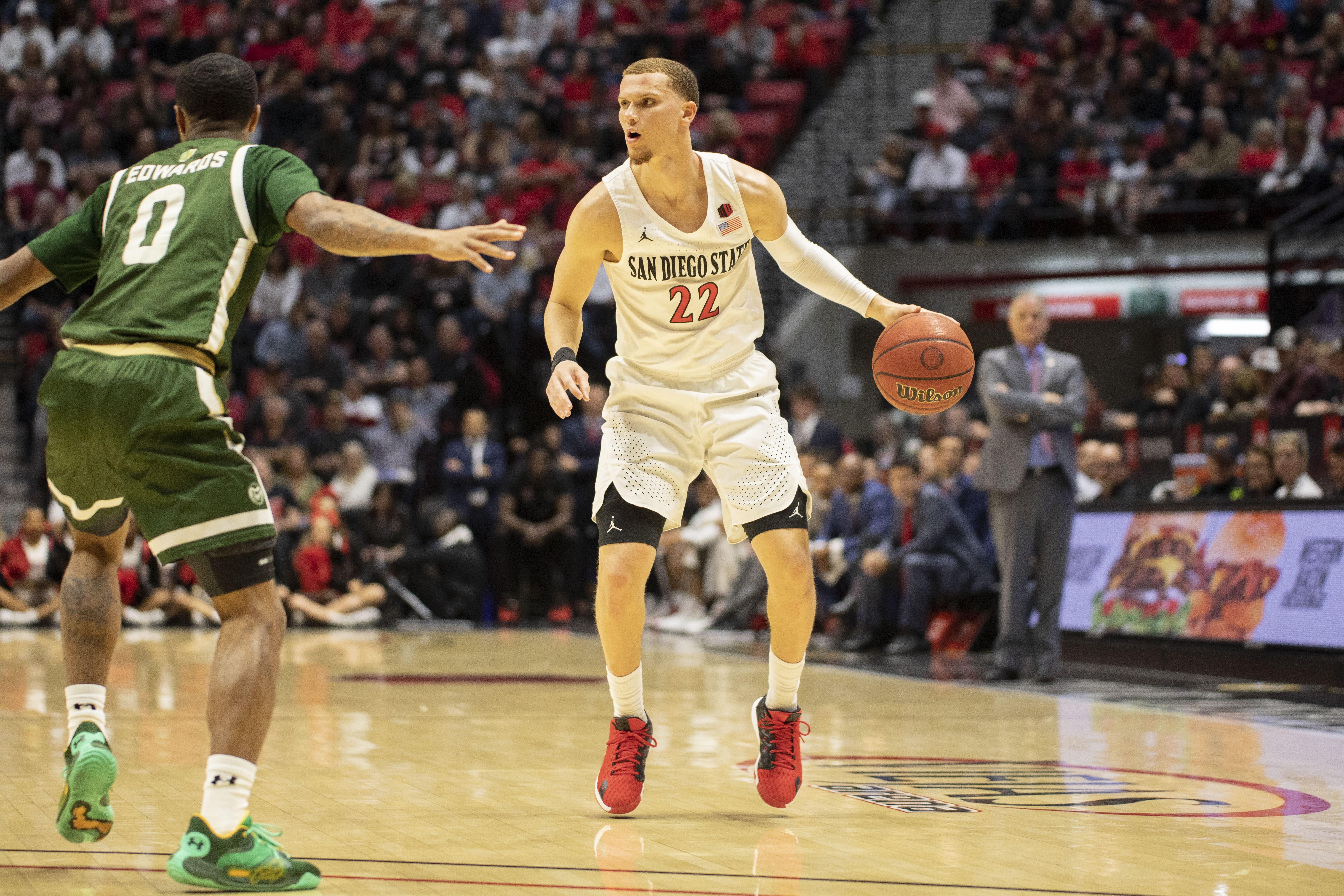 COLLEGE BASKETBALL: FEB 25 Colorado State at San Diego State