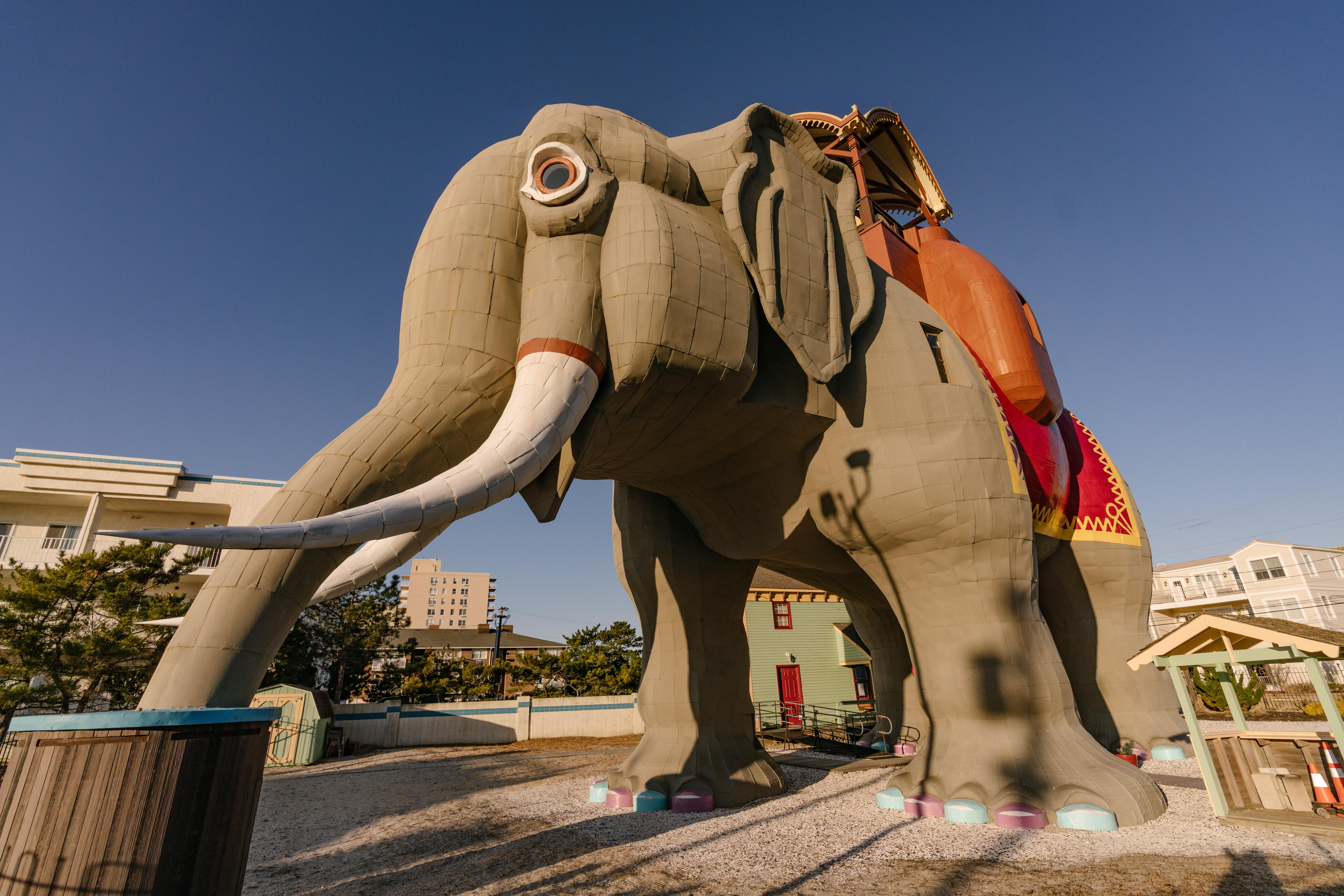 Six story wooden elephant.