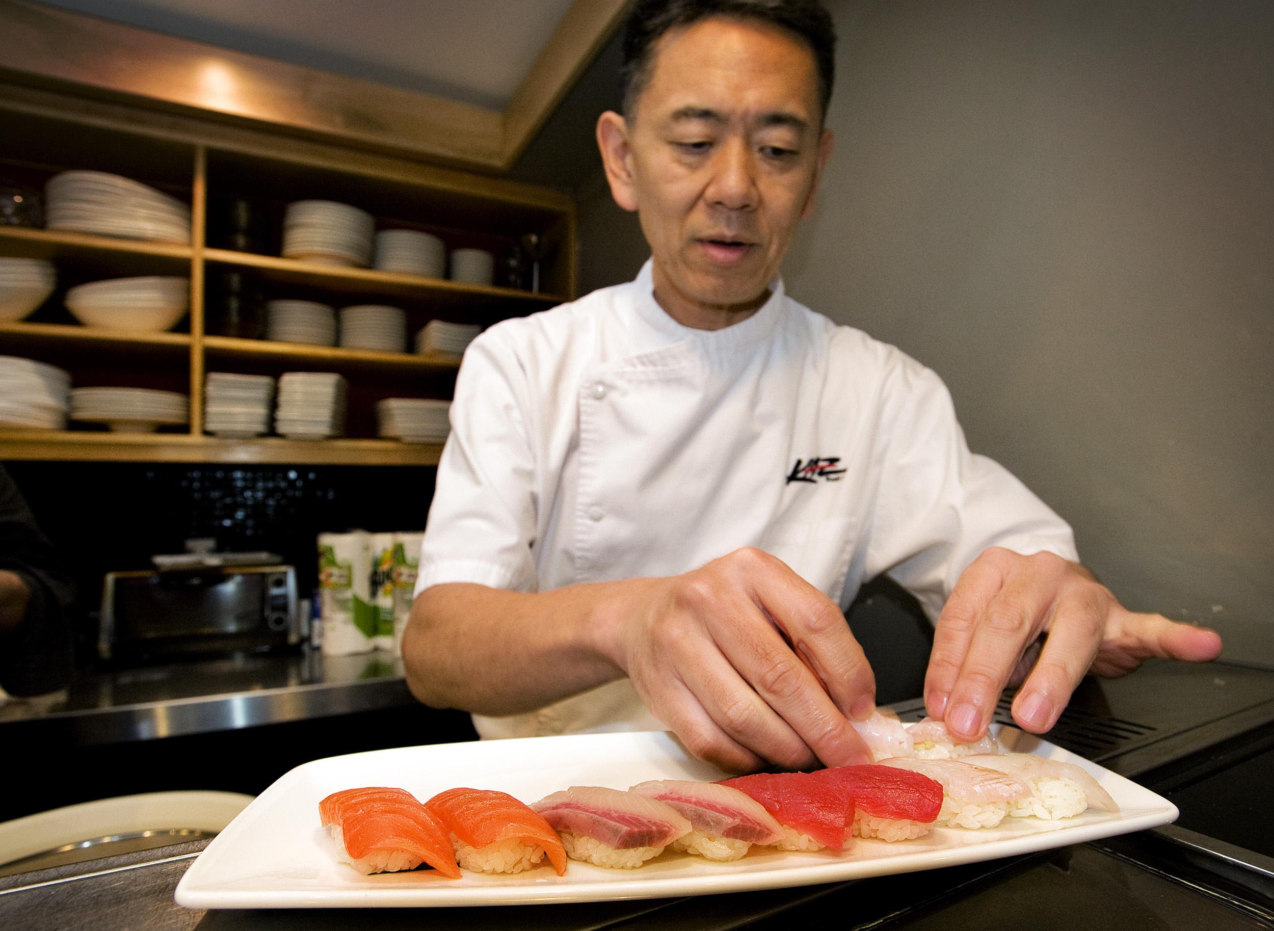 Kaz Okochi, owner and chef at Kaz Sushi Bistro in Washington, DC.