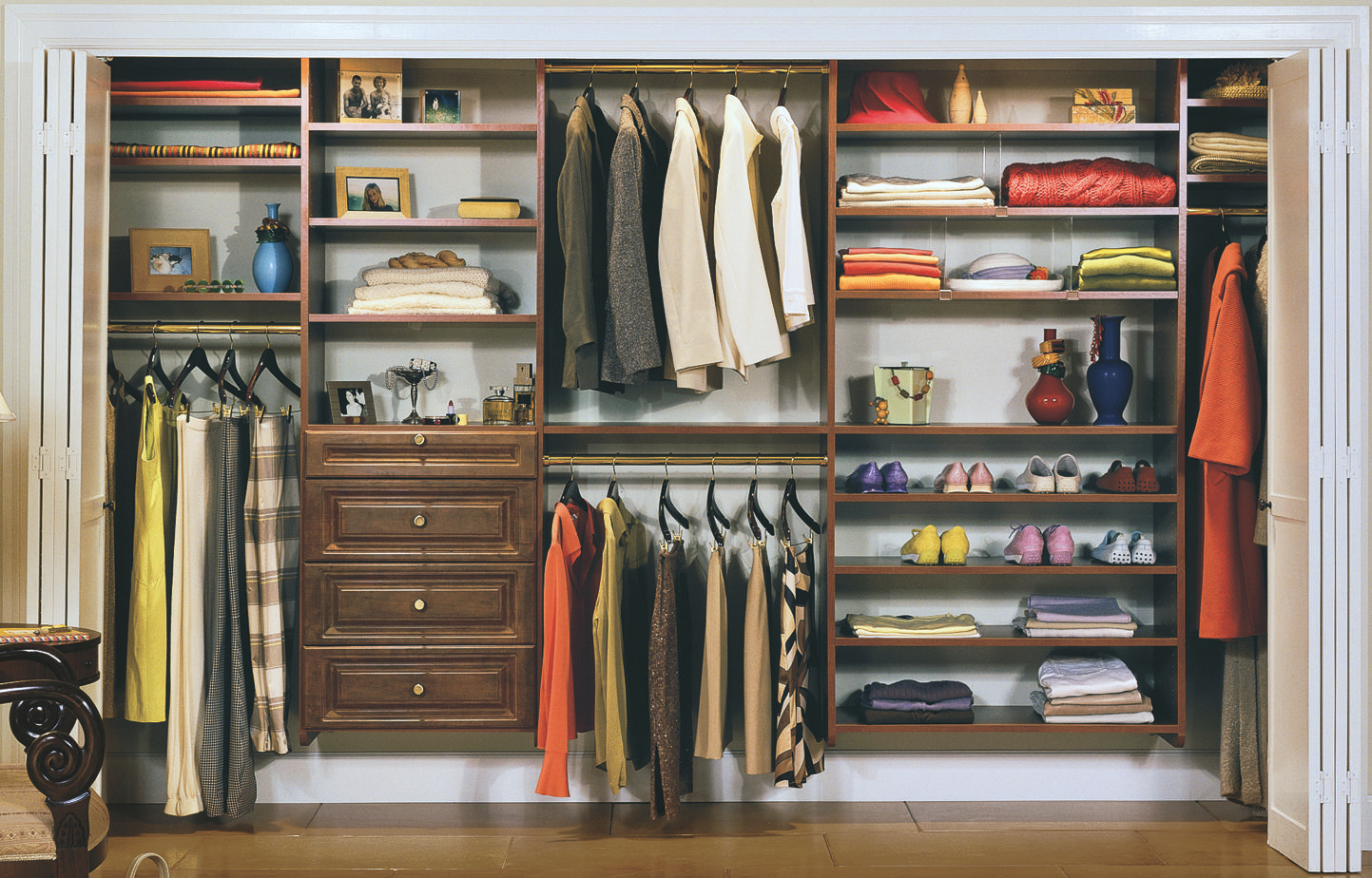Fully Custom System Options when planning to redo your bedroom closet.