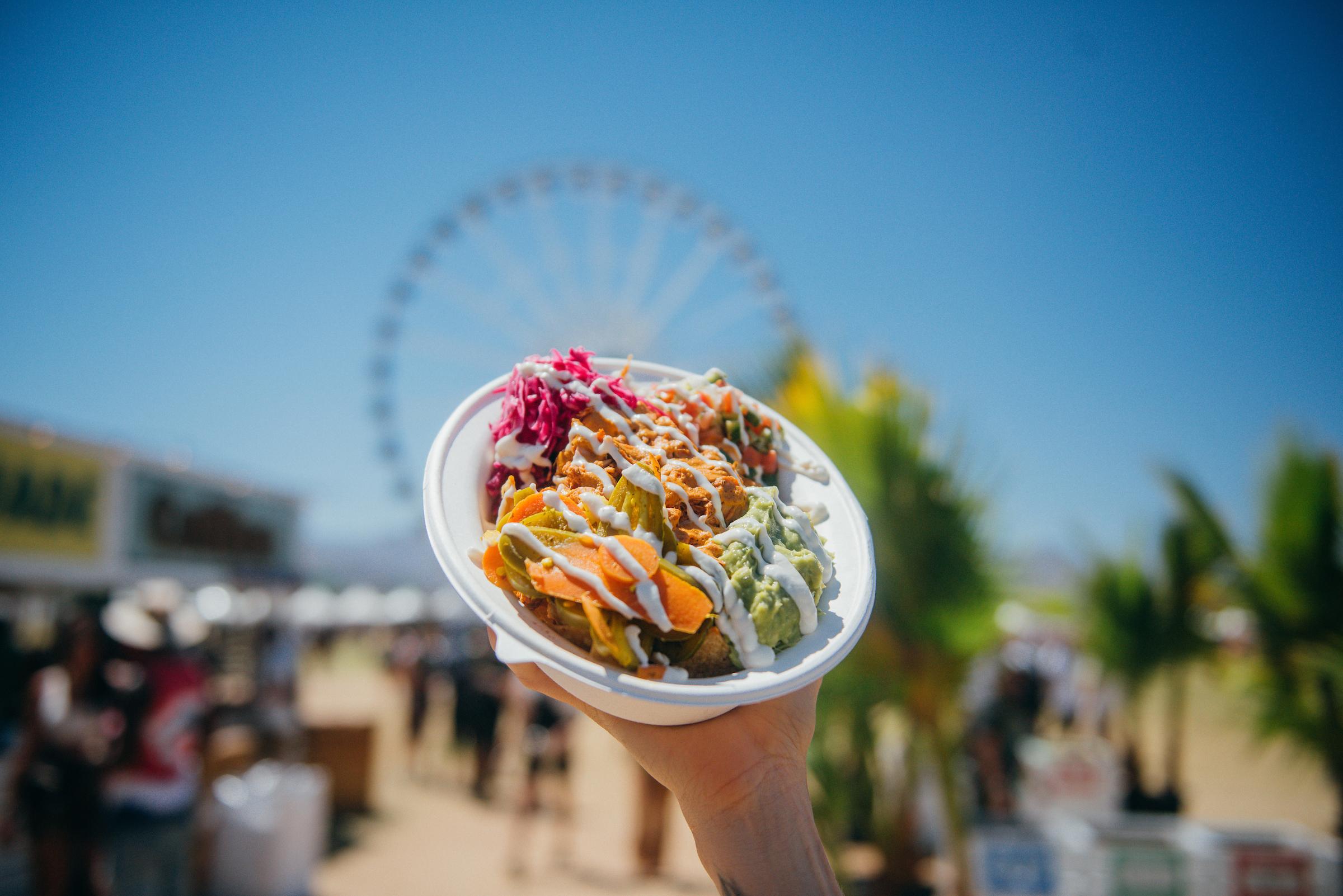 Vegan bowl at Coachella 2018
