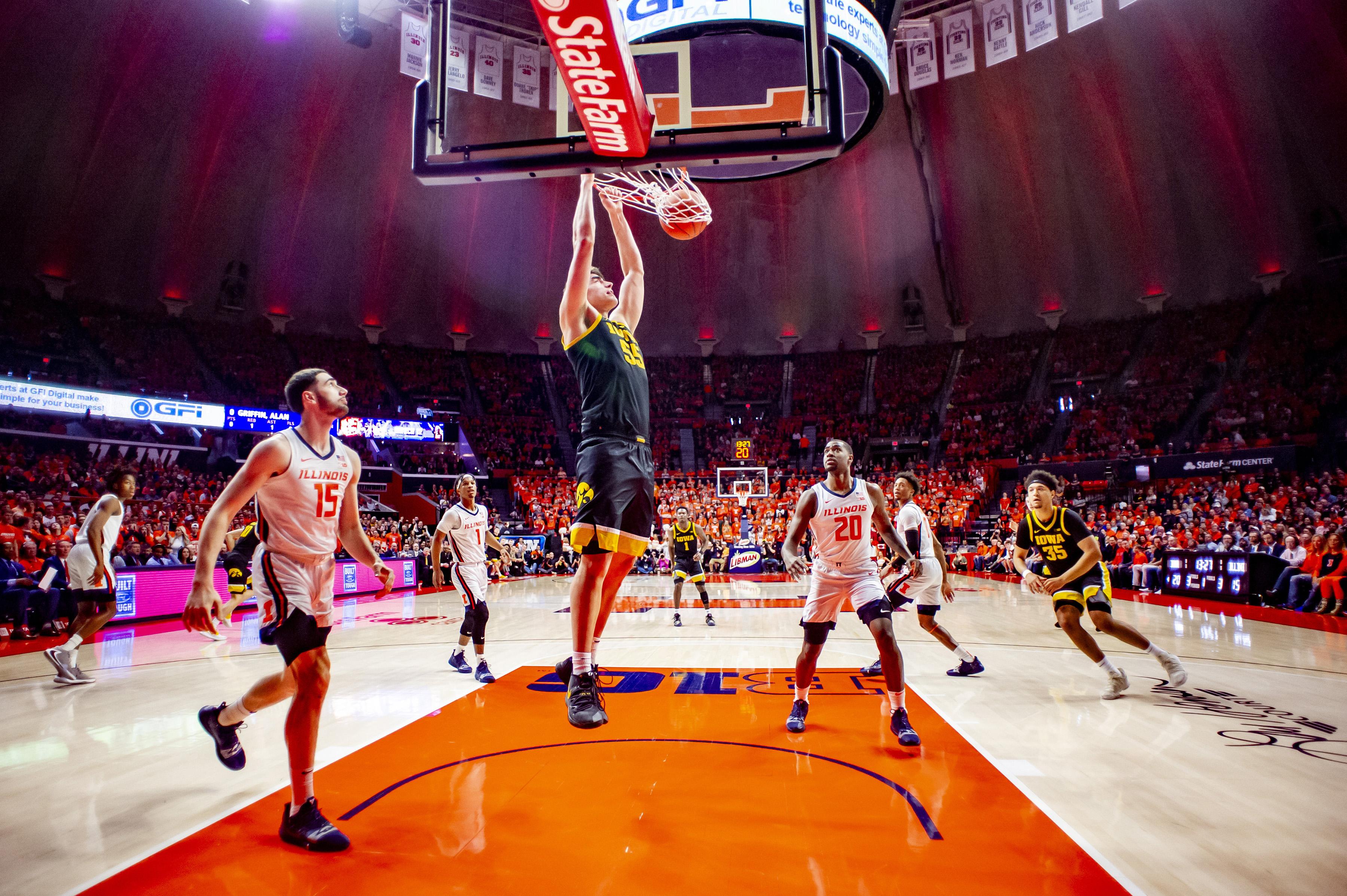 NCAA Basketball: Iowa at Illinois
