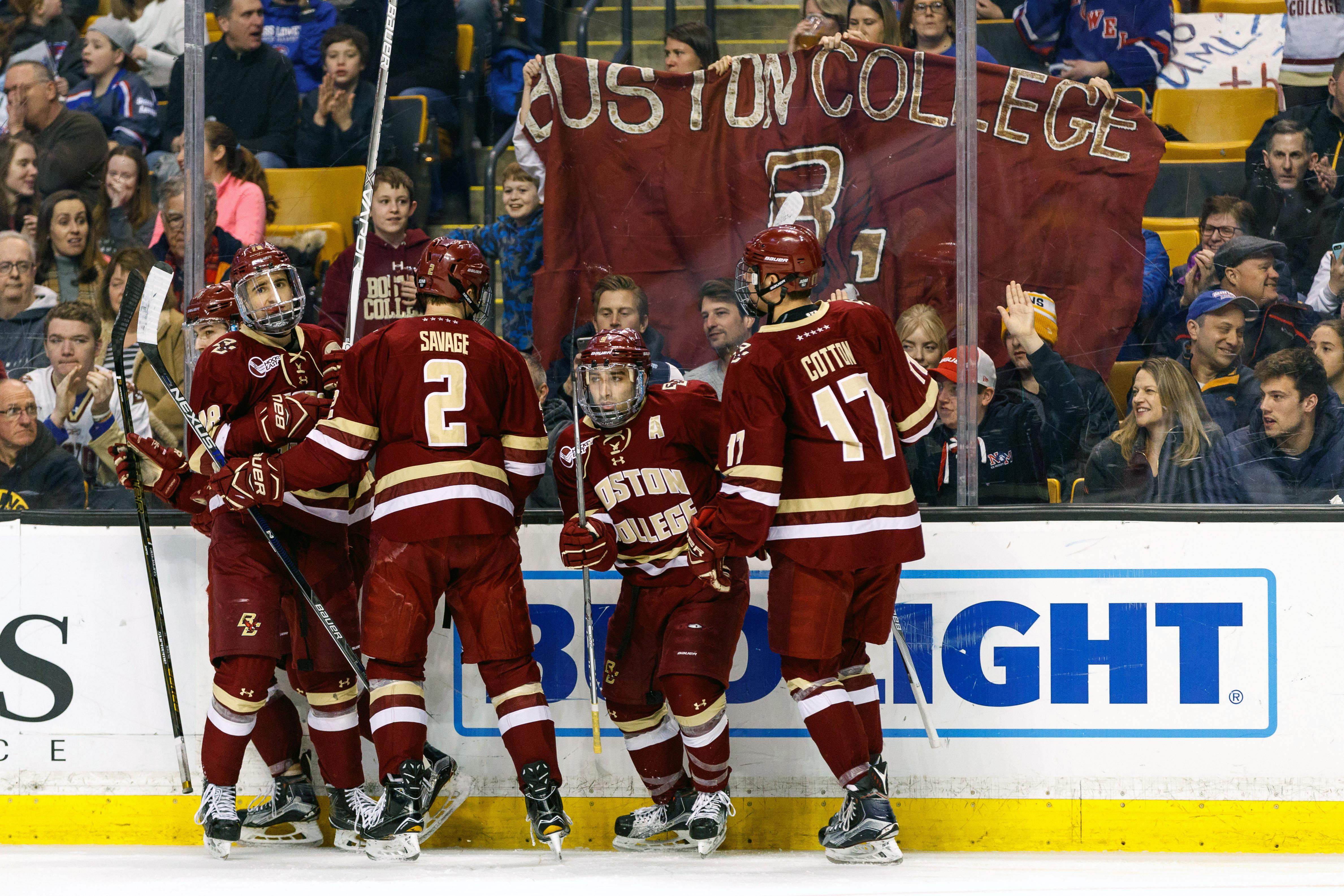 COLLEGE HOCKEY: MAR 18 Hockey East Championship - UMass Lowell v Boston College
