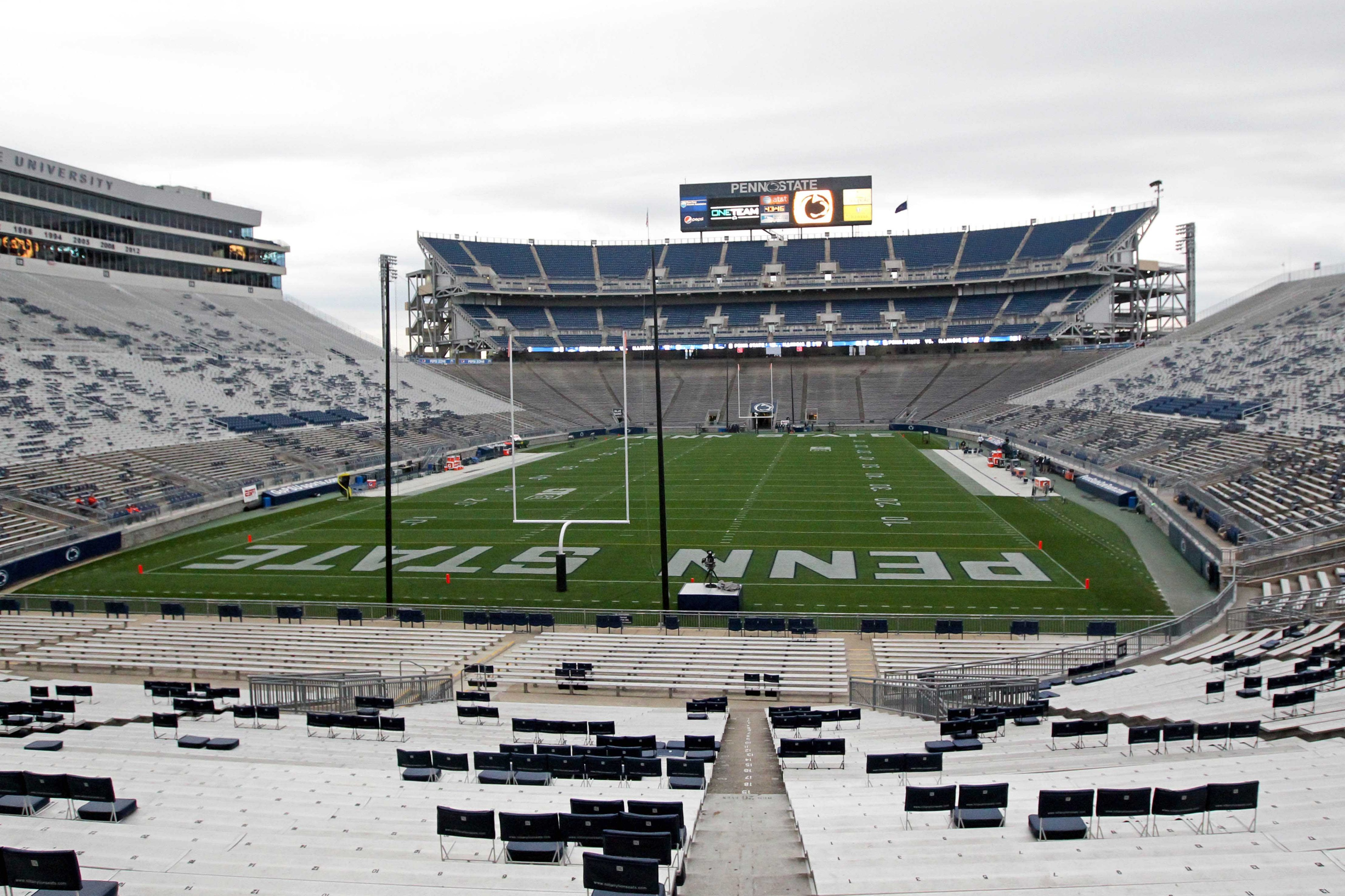 It's okay, Beaver Stadium. You'll be full in a few hours.