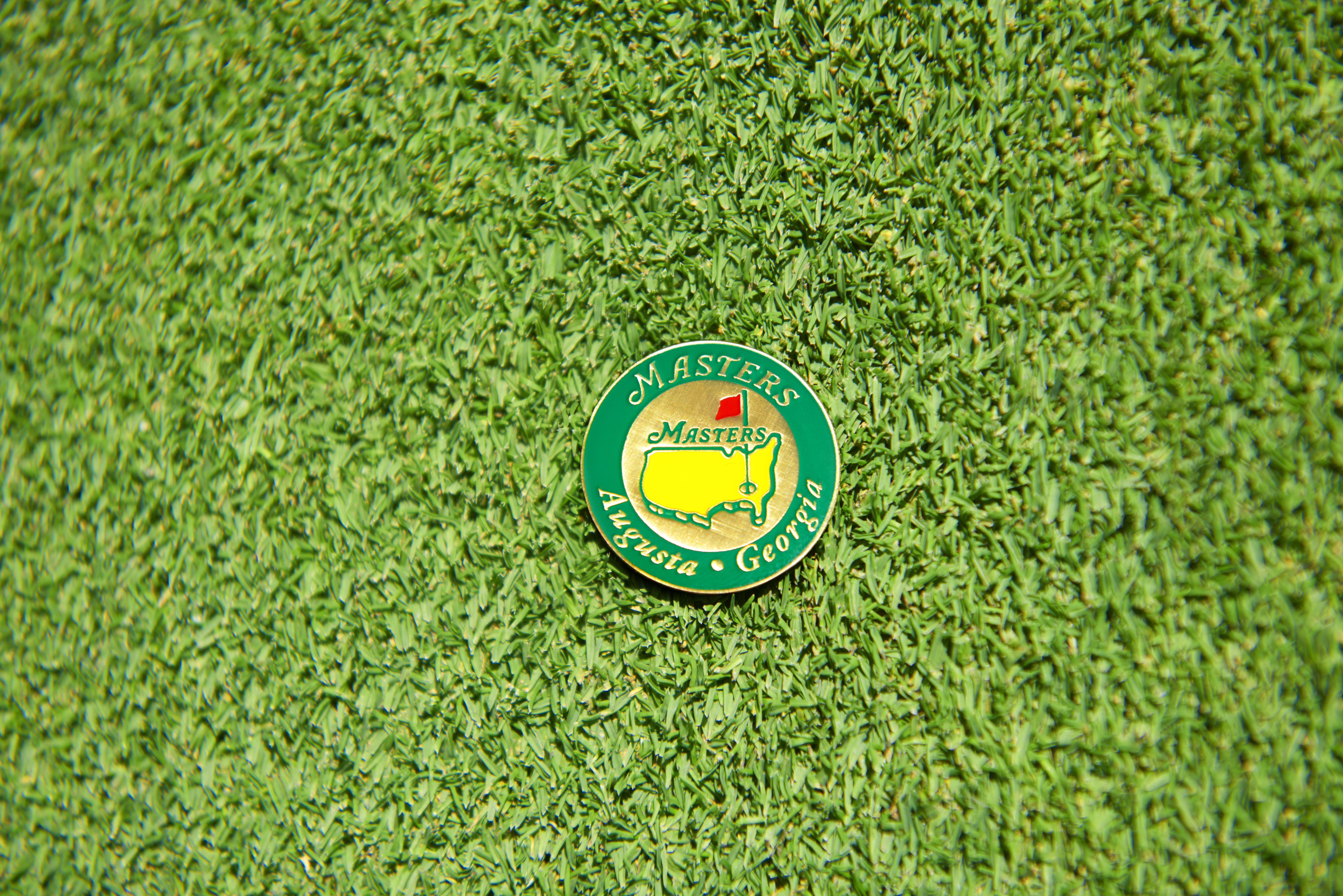 US Masters Ball Marker On Green, Landscape