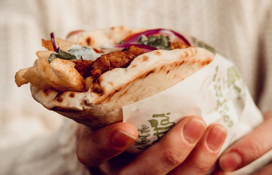 A vegan gyros from What the Pitta!