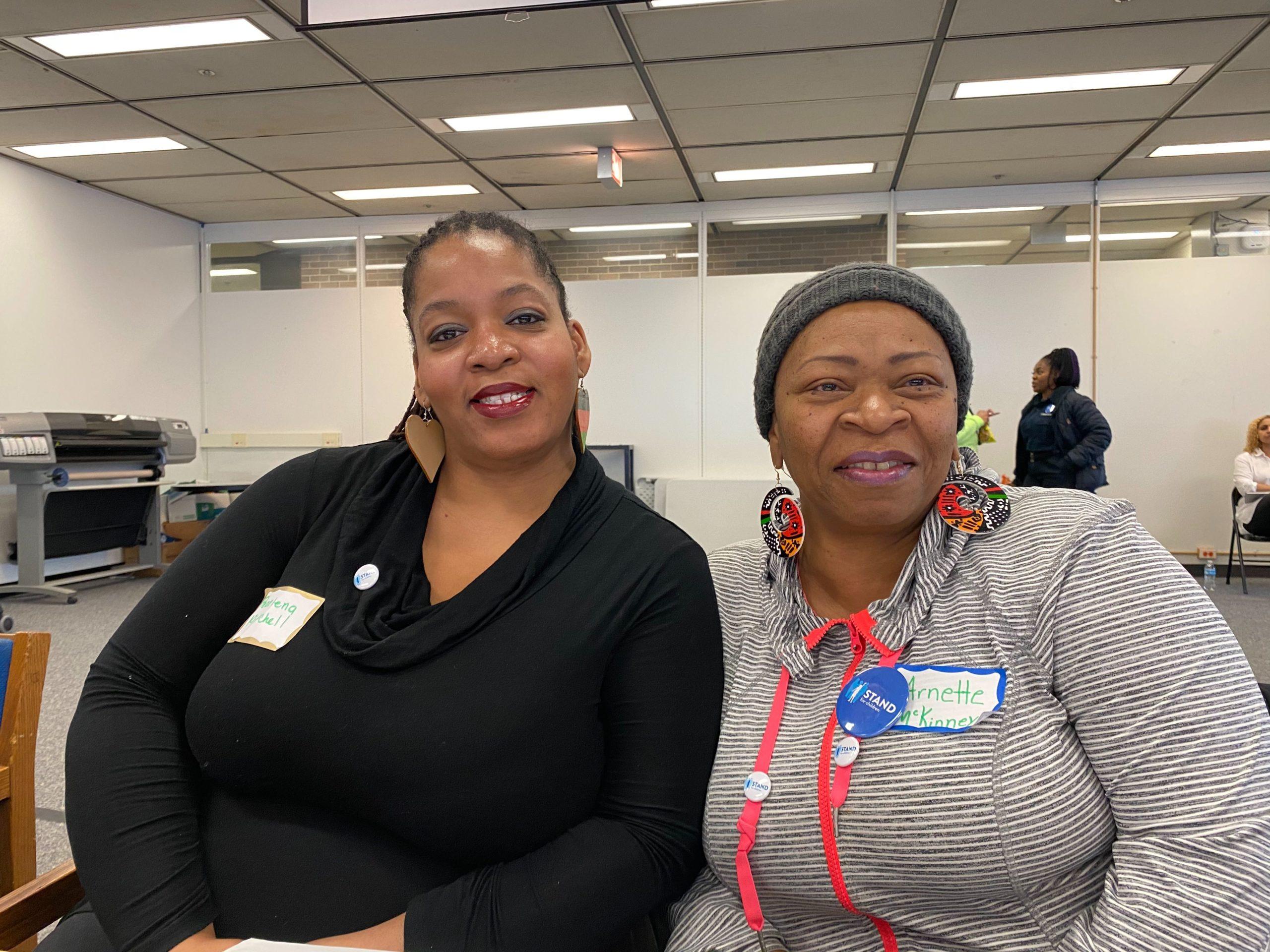 Pearlena Mitchell, left, and Arnette McKinney teach at Chicago's John Fiske Elementary School.